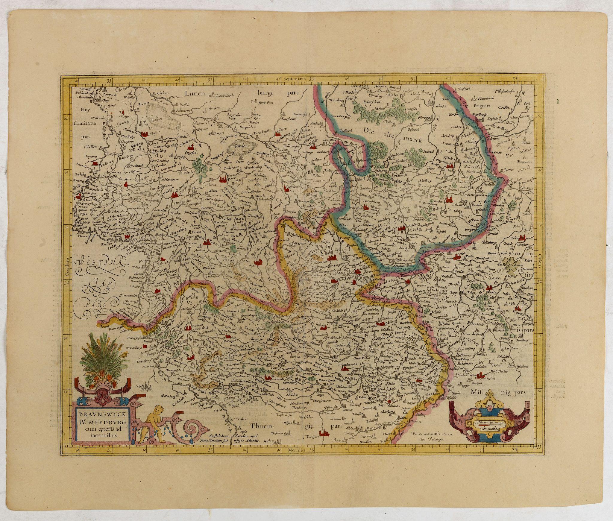 MERCATOR, G./ HONDIUS, J. -  Bravnswyck et Meydburg. . .