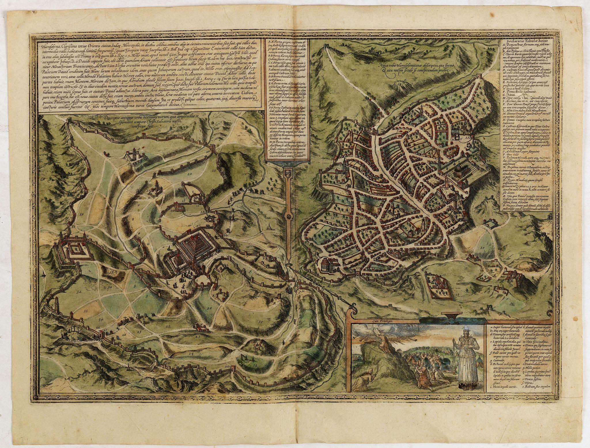 BRAUN,G. / HOGENBERG, F. -  Hierosolymia, Clarissima totius Orientis civitas. . .