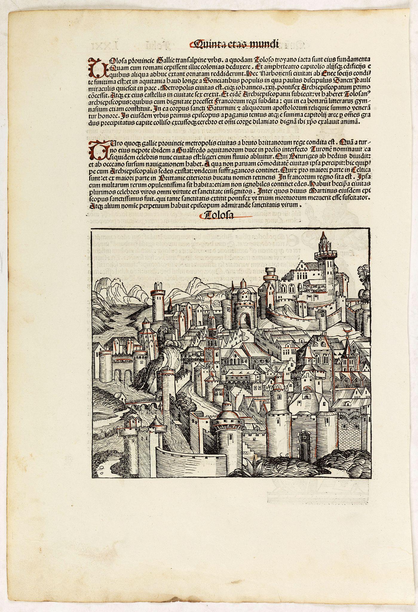 SCHEDEL, H. -  Quita Etas Mundi. Folium.LXXI (Toulouse)