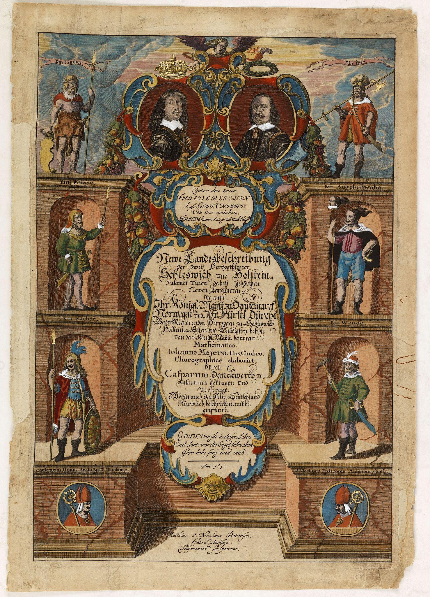 DANCKWERTH, C. -  (Title page) Neue Landesbeschreibung der zwei Herzogtümer Schleswig und Holstein. . .