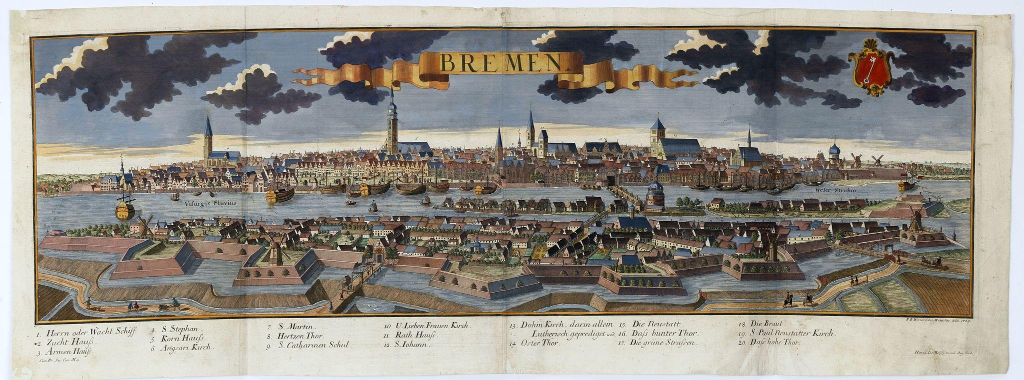 WOLFF, J. heirs / WERNER, F. B. -  Bremen.