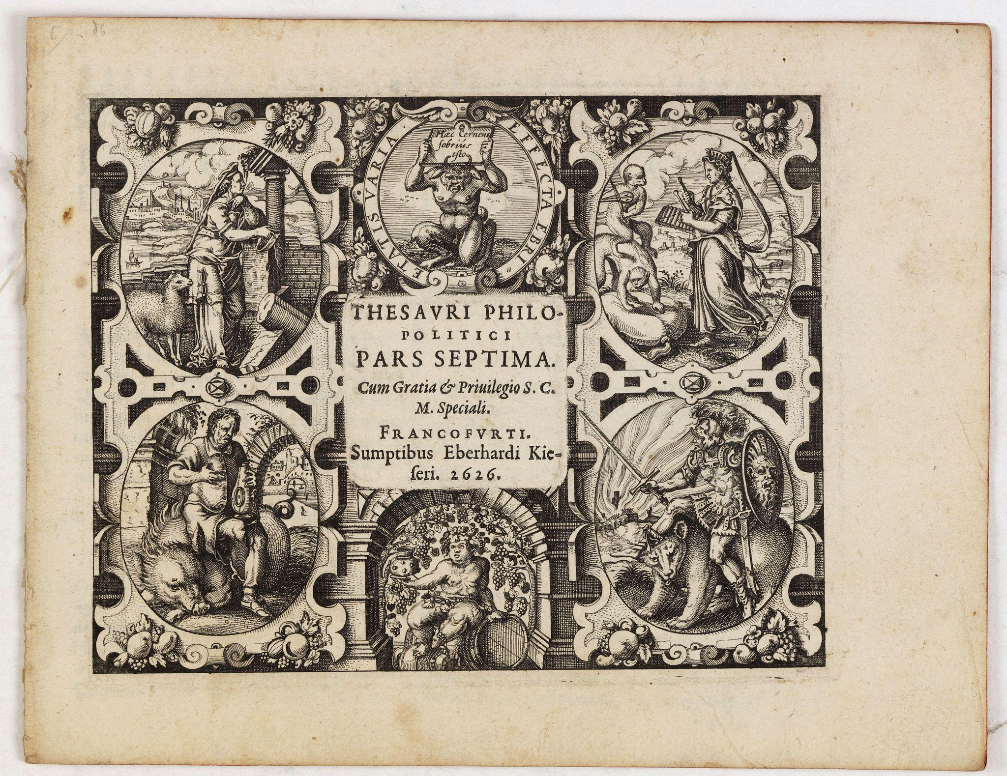 MEISNER, D. -  [Title page] Thesauri Philo Politci pars septima. . .