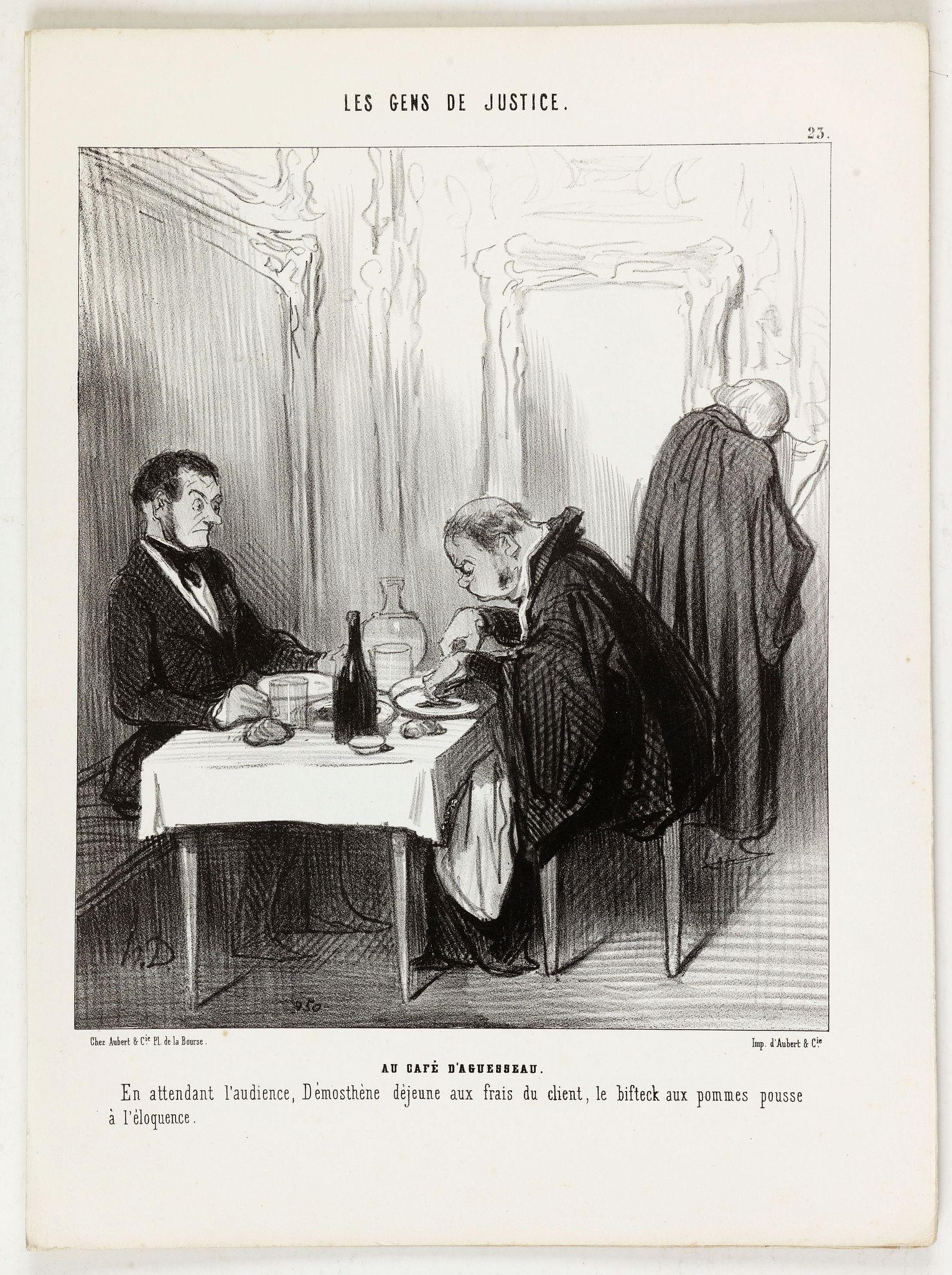 DAUMIER, H. -  Les Gens de Justice. - Au café d'Aguesseau.
