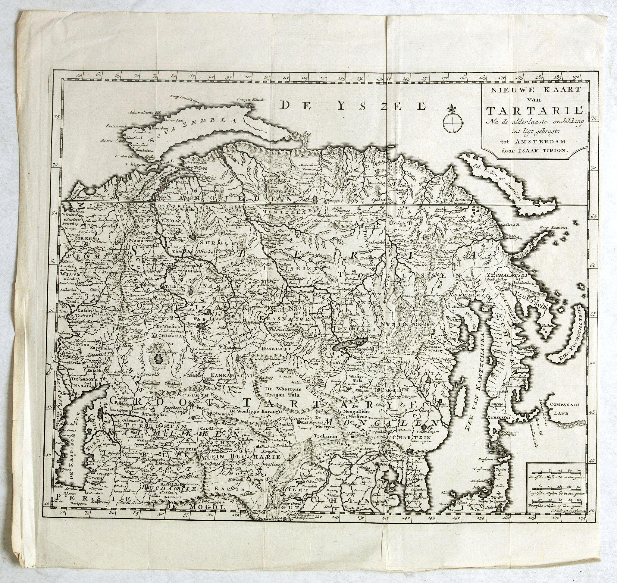 TIRION, I. -  Nieuwe kaart van Tartarie. . .