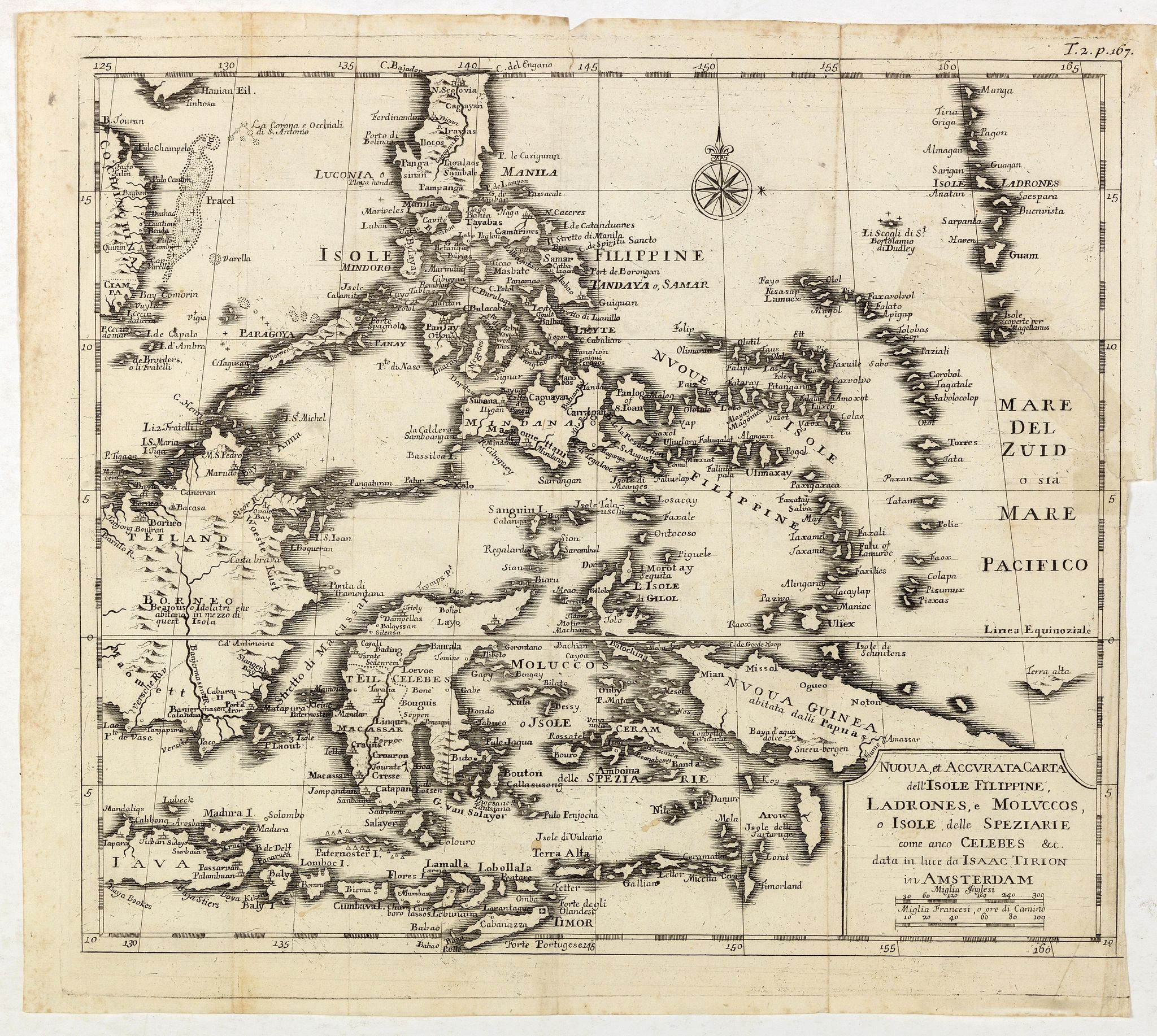 ALBRIZZI, G. -  Nuova et Accurata Carta dell' Isole Filippine, Ladrones, a Moluccos o Isole della Speziarie come anco Celebes &c.