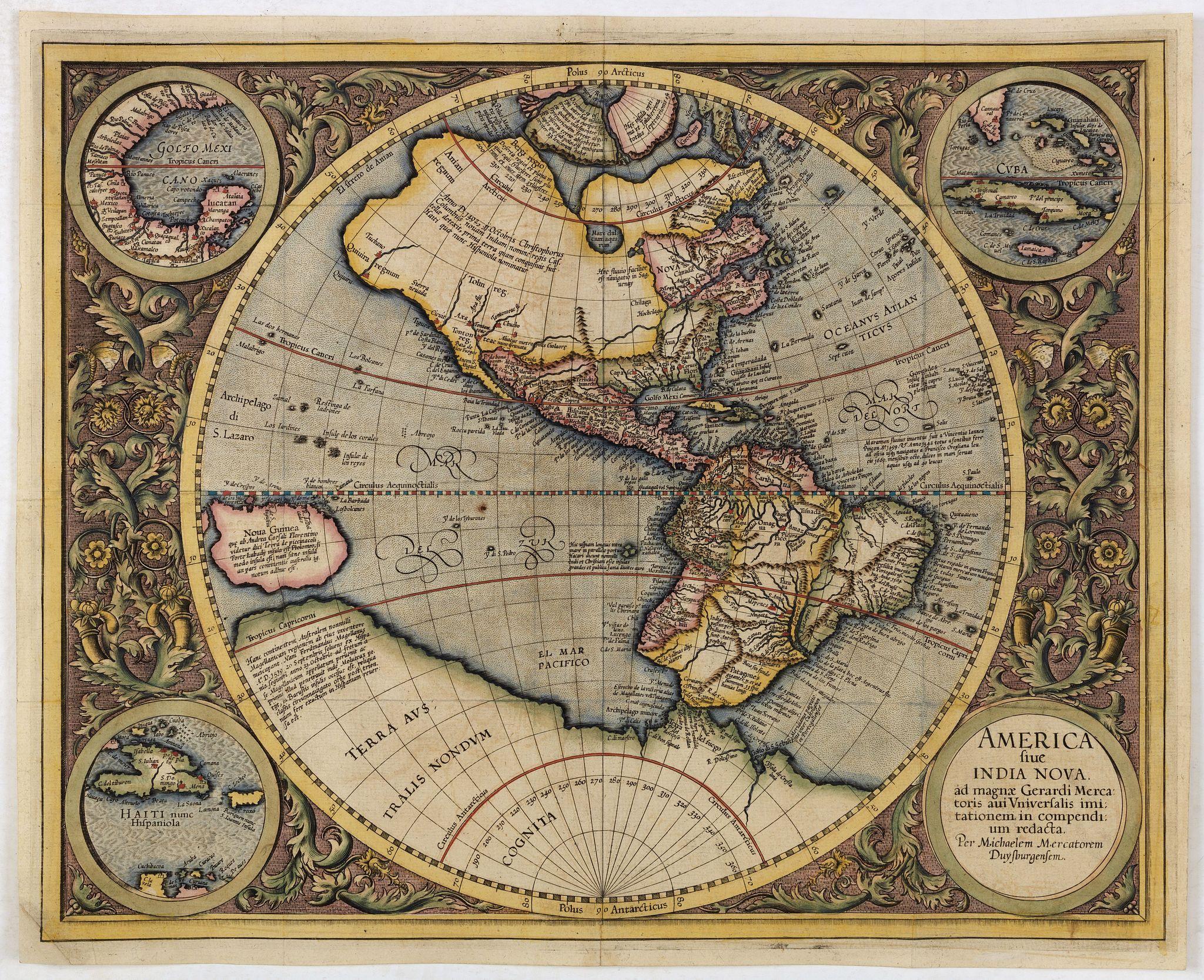 MERCATOR,G./ HONDIUS,J. -  America sive India Nova.