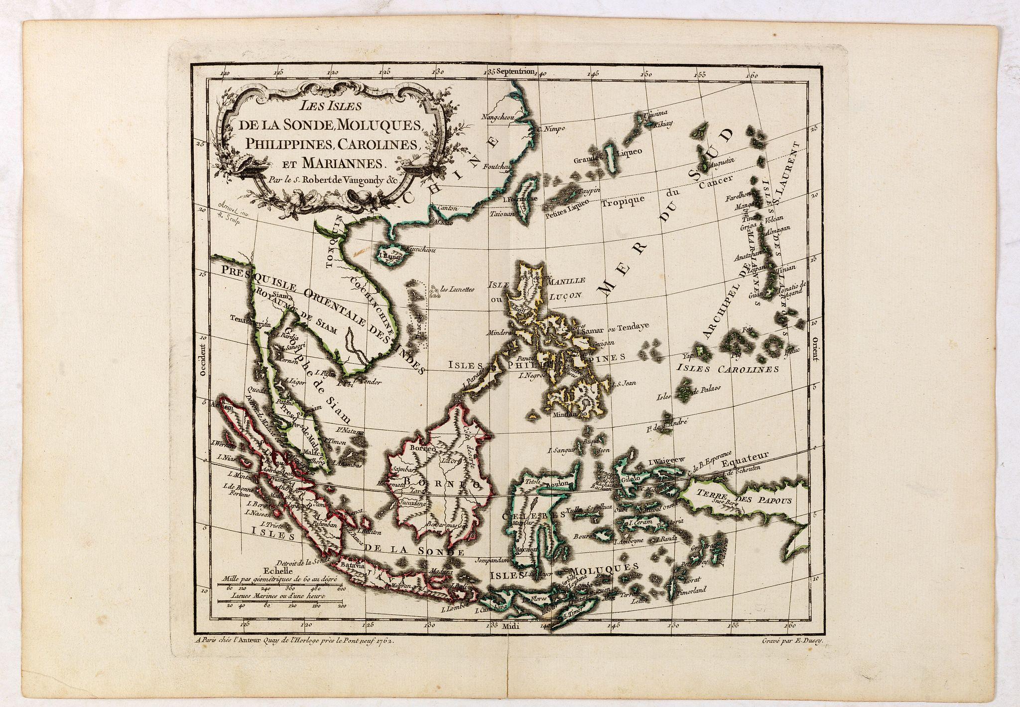 VAUGONDY, R. de -  Les Isles de la Sonde, Moluques, Philippines, Carolines, et Marlannes.