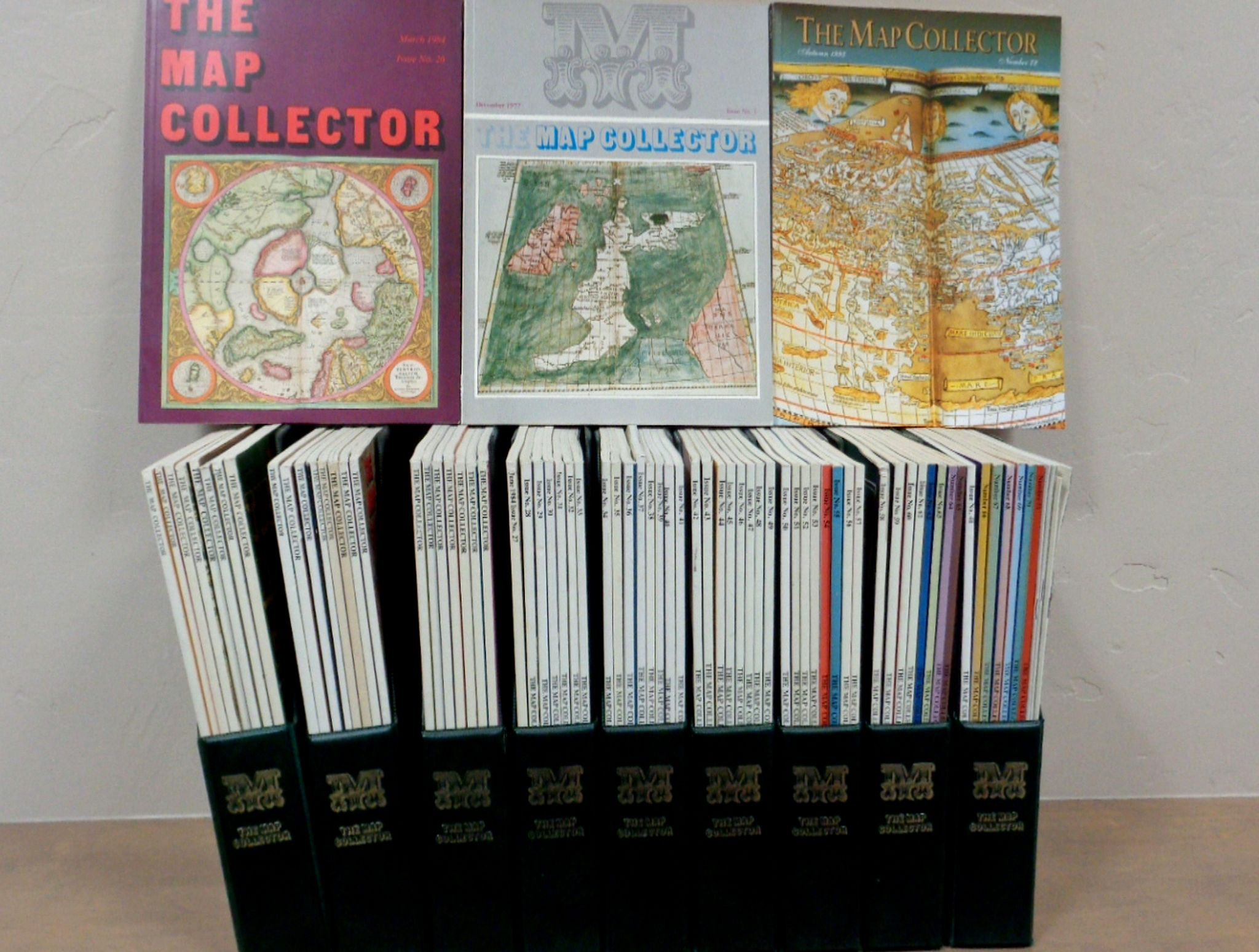 The Map Collector Publications, 73 of 74 issues of The Map Collector Magazine., antique map, old maps