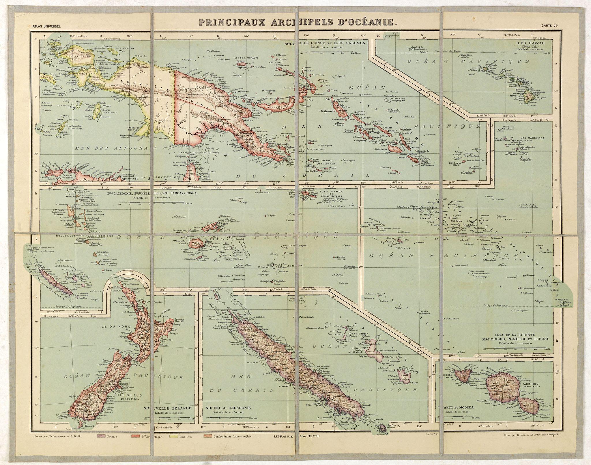 VIVIEN. ST. MARTIN, L. -  Principaux archipels d'Oceanie.