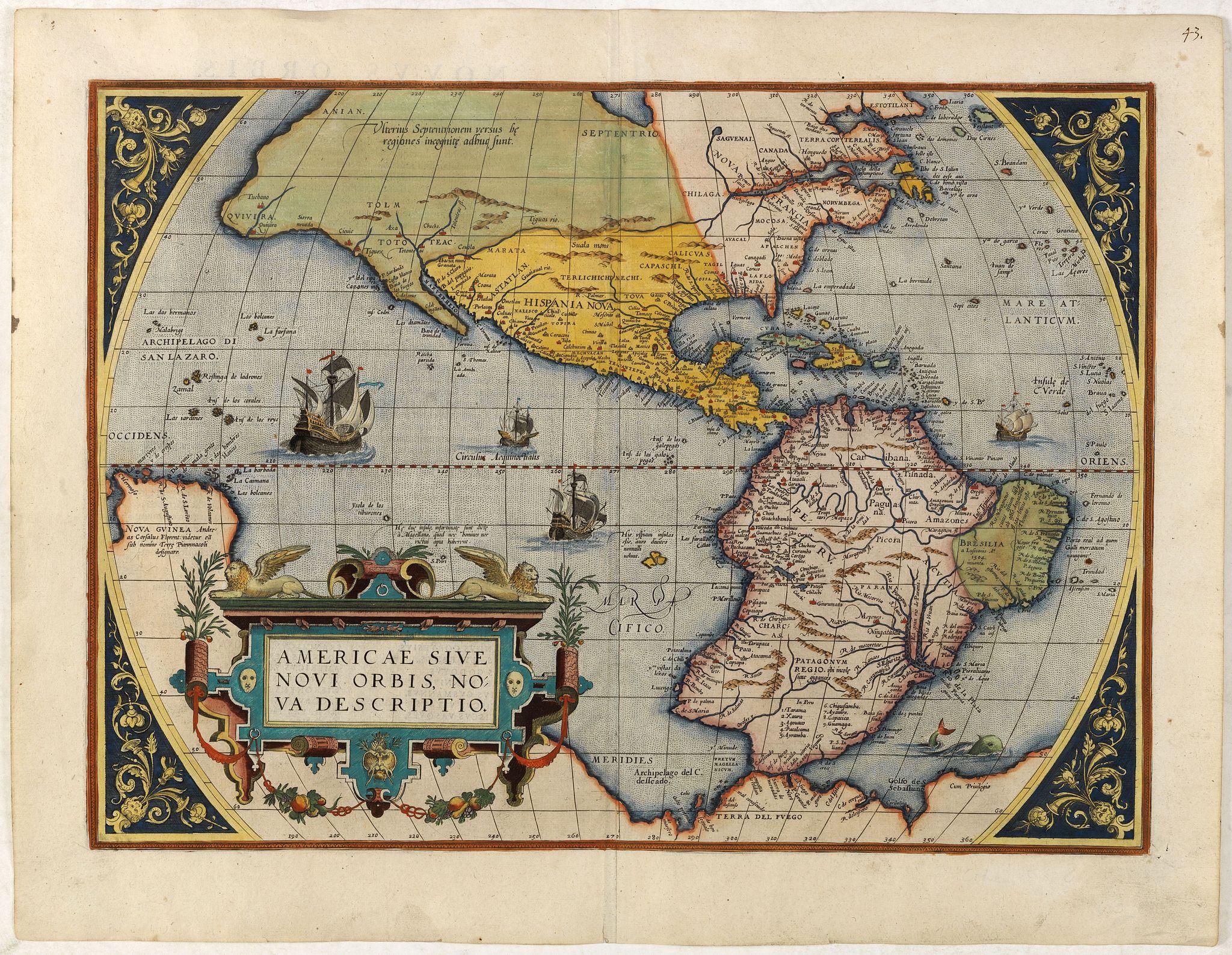 ORTELIUS, A. -  Americae Sive Novi Orbis, Nova Descriptio.