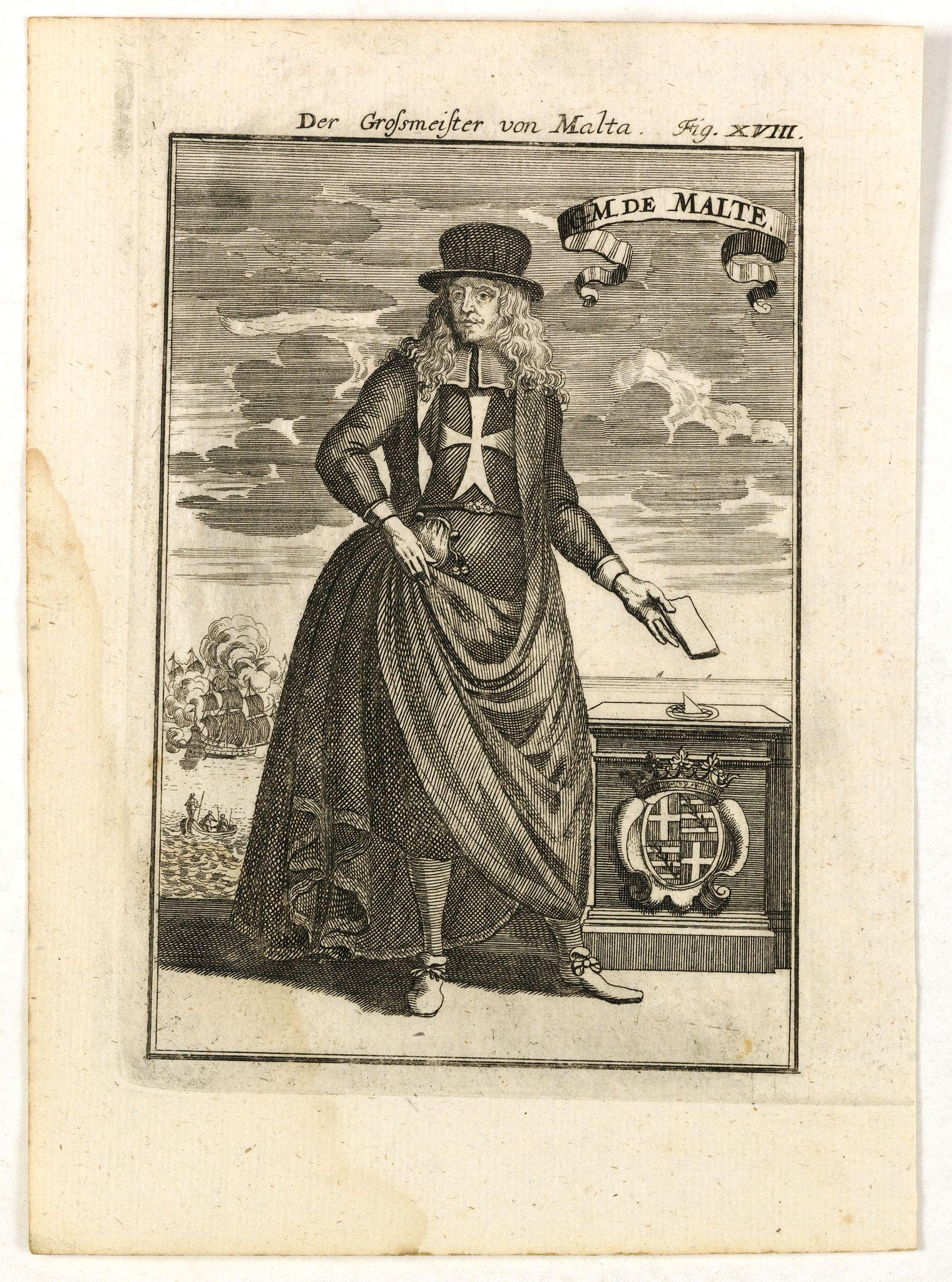 MALLET, A.M. -  GM de Malte. Der Grossmeister von Malta Fig. XVIII.