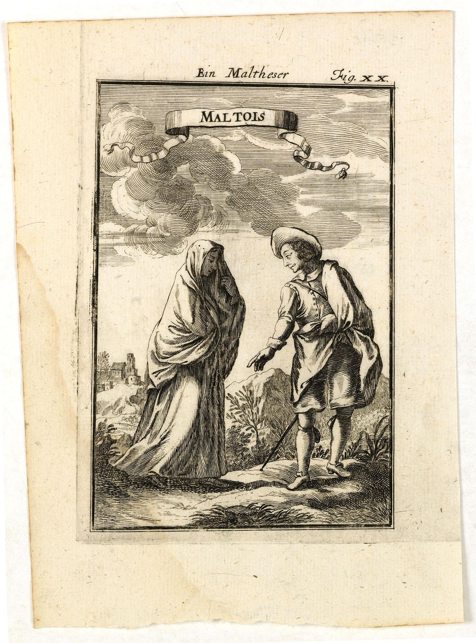 MALLET, A.M. -  Maltois. Ein Maltheser Fig. XX.