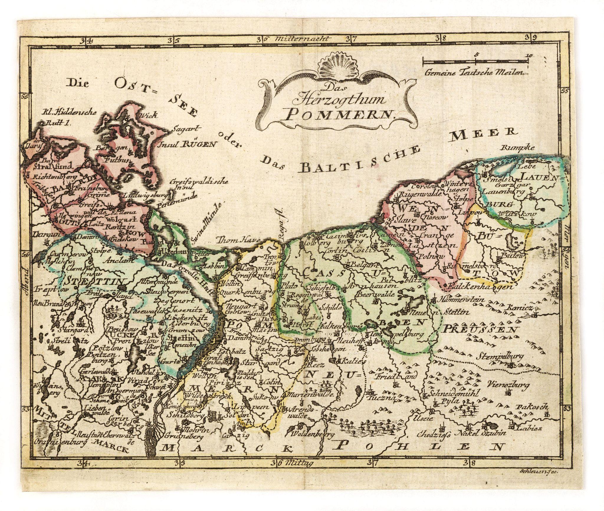 SCHLEUEN, J.D. -  Das Hertzogthum Pommern.