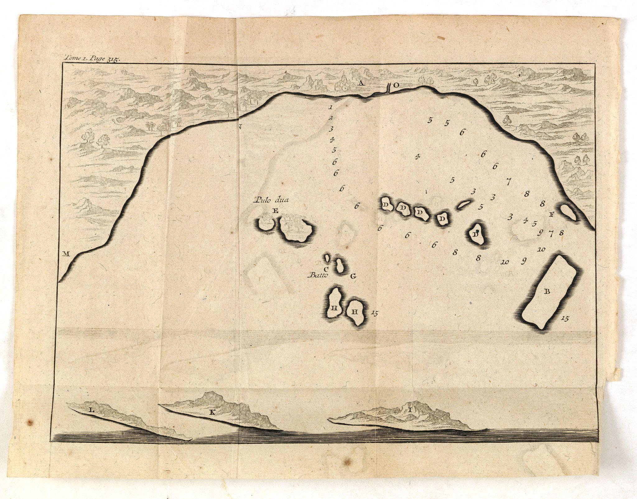 DE RENNEVILLE, R.A.C. -  (Bird's eye view of the Bay of Bantam)