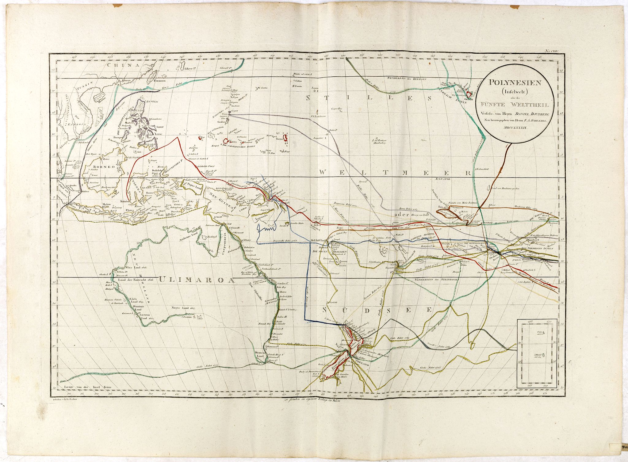 DJURBERG, D. / SCHRAEMBL -  Polynesien (Inselwelt) oder der Fünfte Welttheil Verfasst von Herrn Djurberg. . .