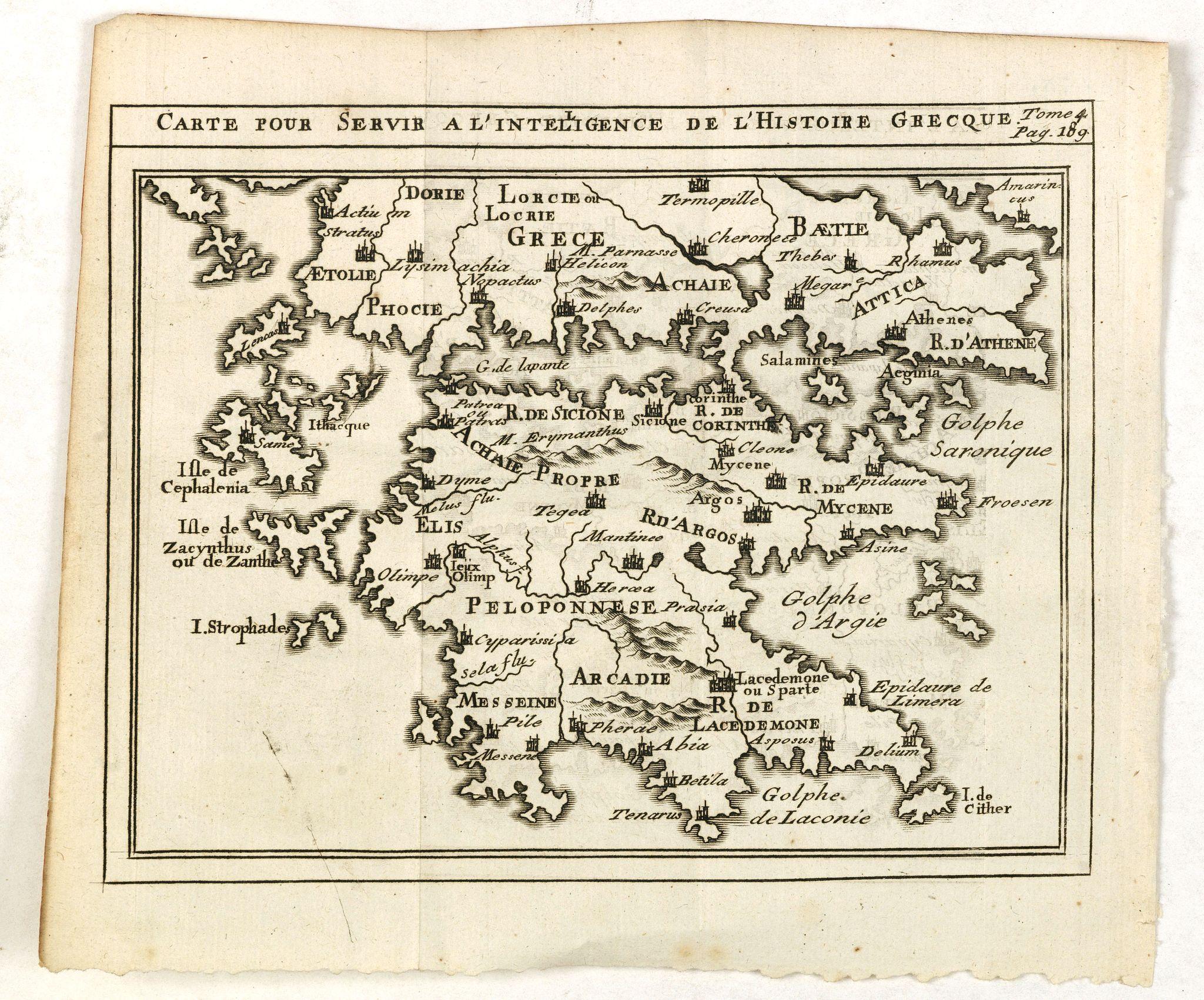DELISLE, G. after -  Carte pour servir a l'intelligence de l'histoire Grecque.
