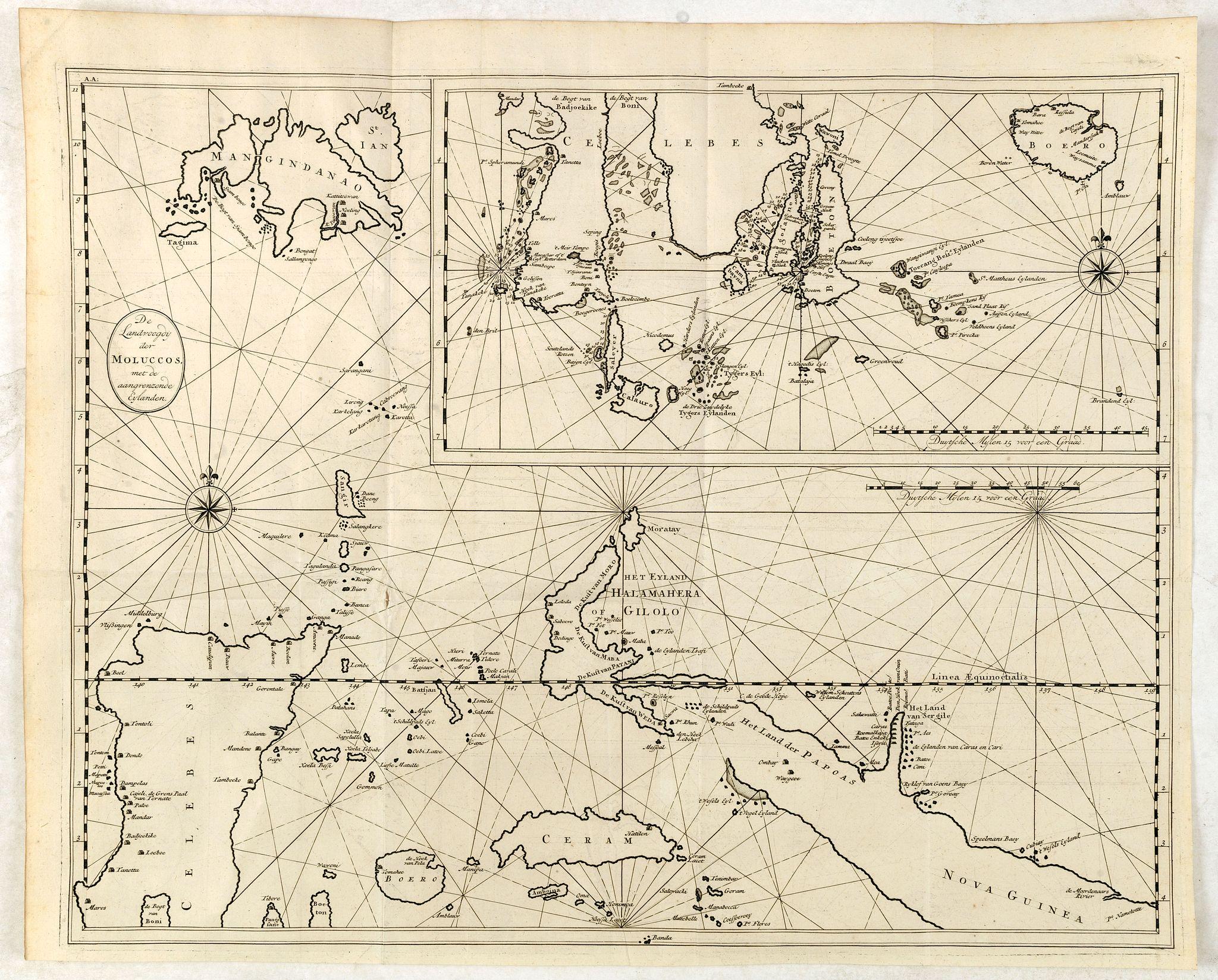 VALENTIJN, F. -  De Landvoogdy der Moluccos met de Aangrenzende Eylanden . . .