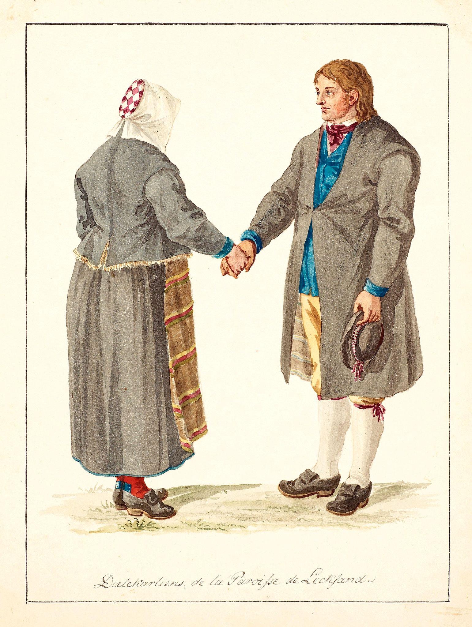 SWEDMAN, C.W. attributed to -  Dalekarliens de la Paroisse de Leckland.