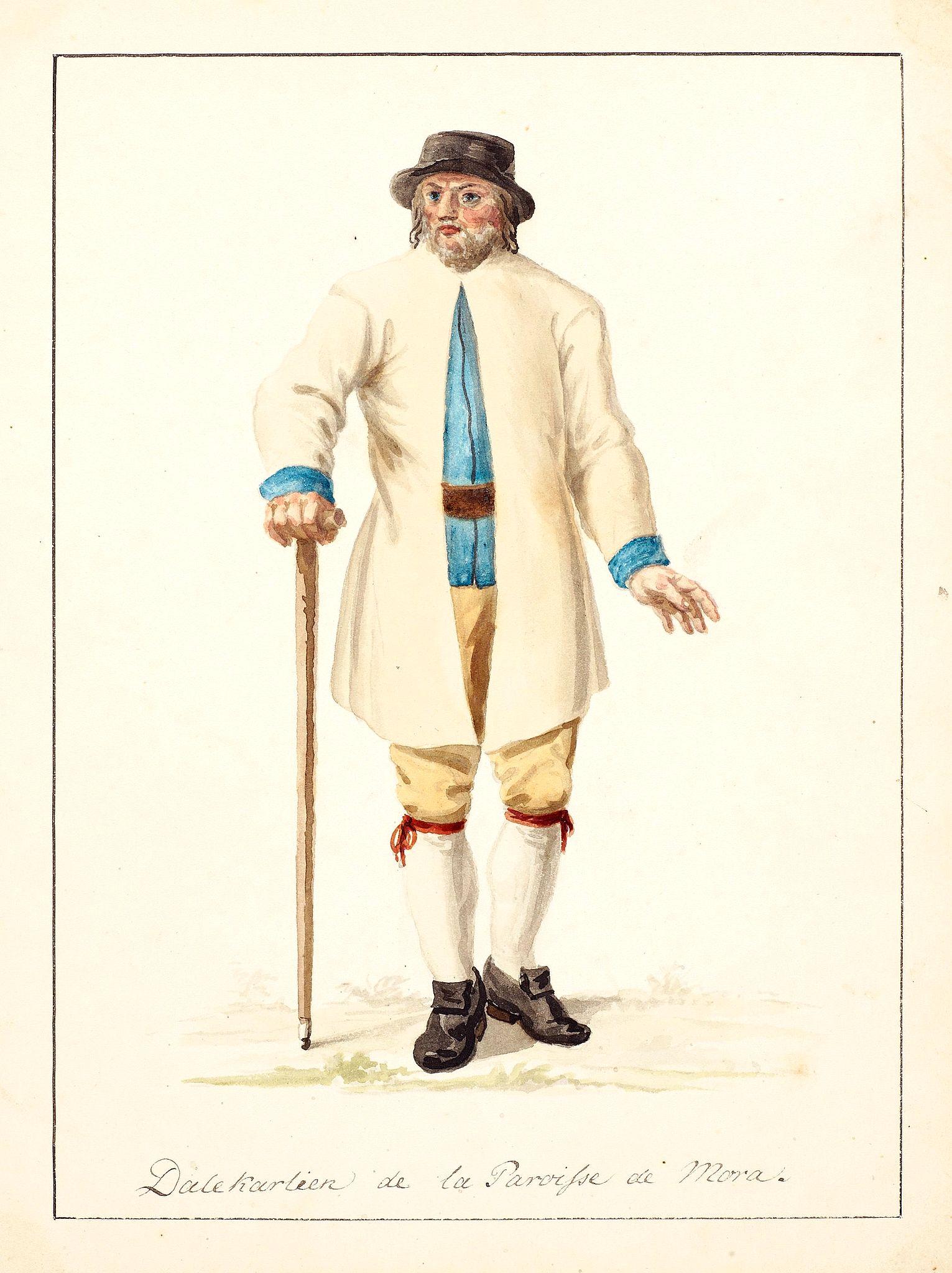 SWEDMAN, C.W. attributed to -  Dalekarlier de la Paroisse de Mora.