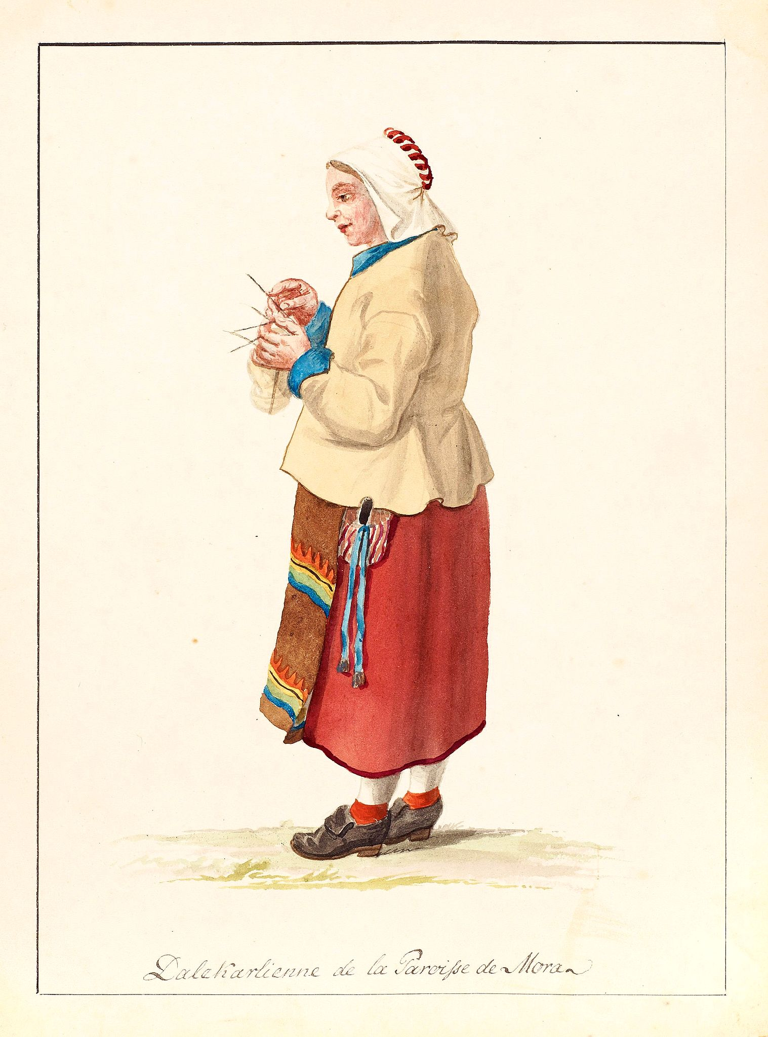 SWEDMAN, C.W. attributed to -  Dalekarlienne de la Paroisse de Mora.