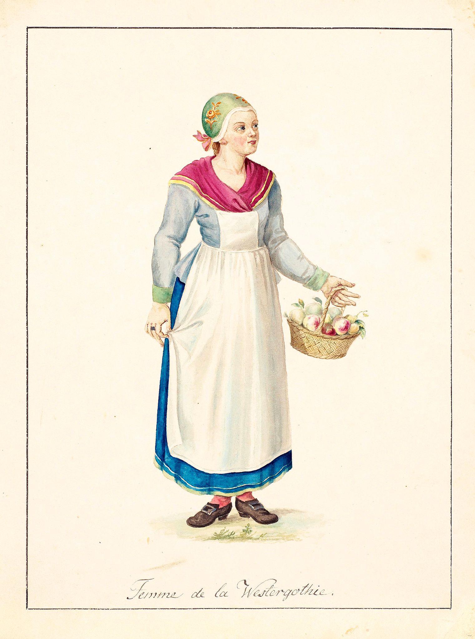 SWEDMAN, C.W. attributed to -  Femme de la Westergothie.