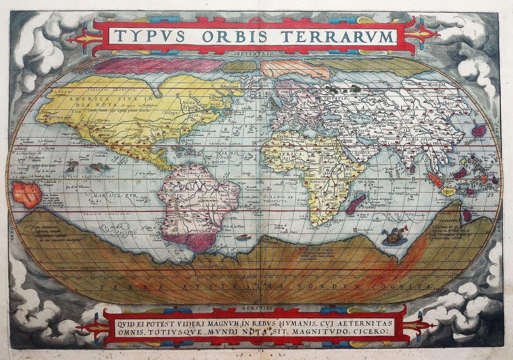 ORTELIUS, A. - Typus Orbis Terrarum.