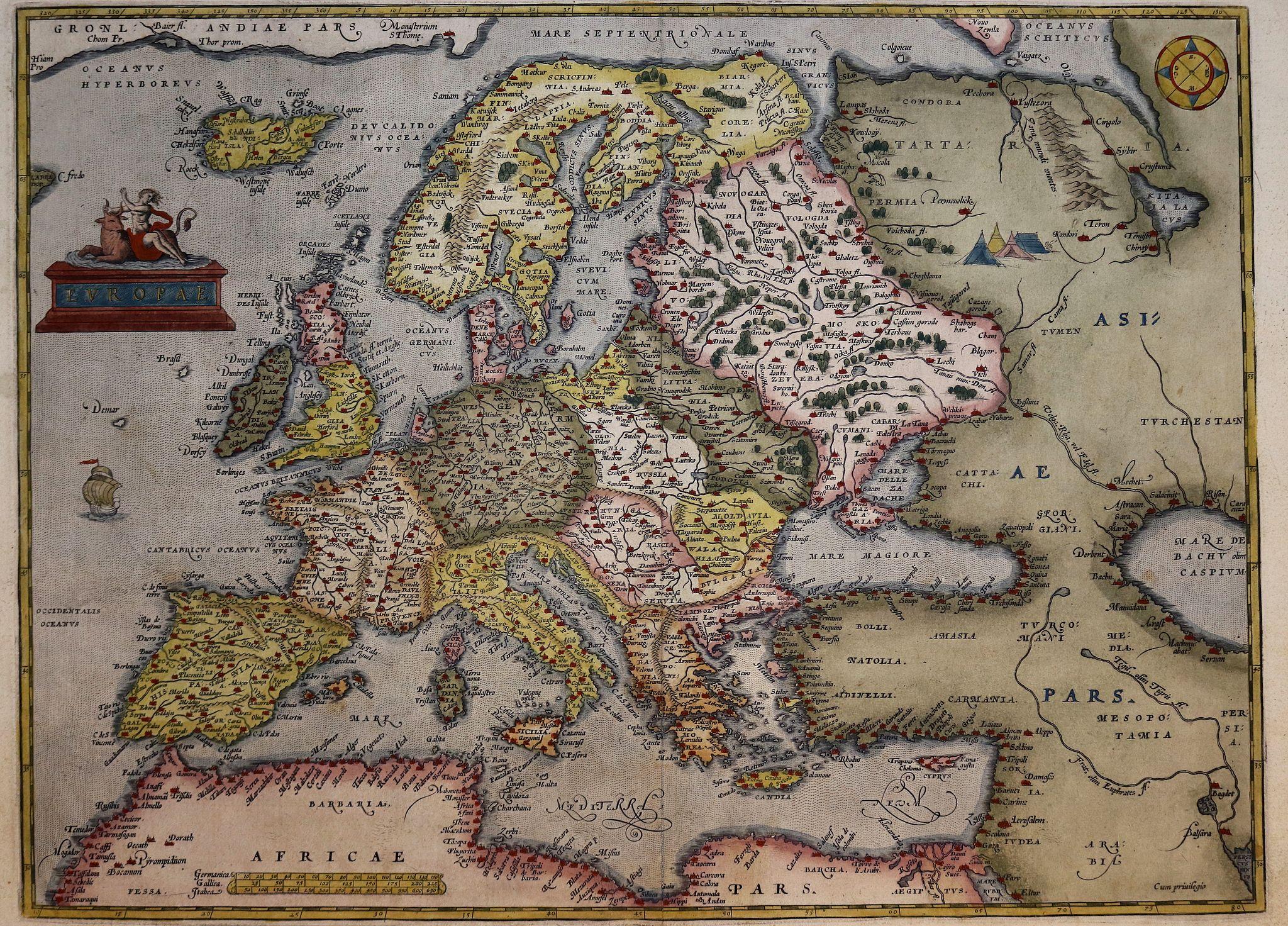 ORTELIUS, A. - Europae.