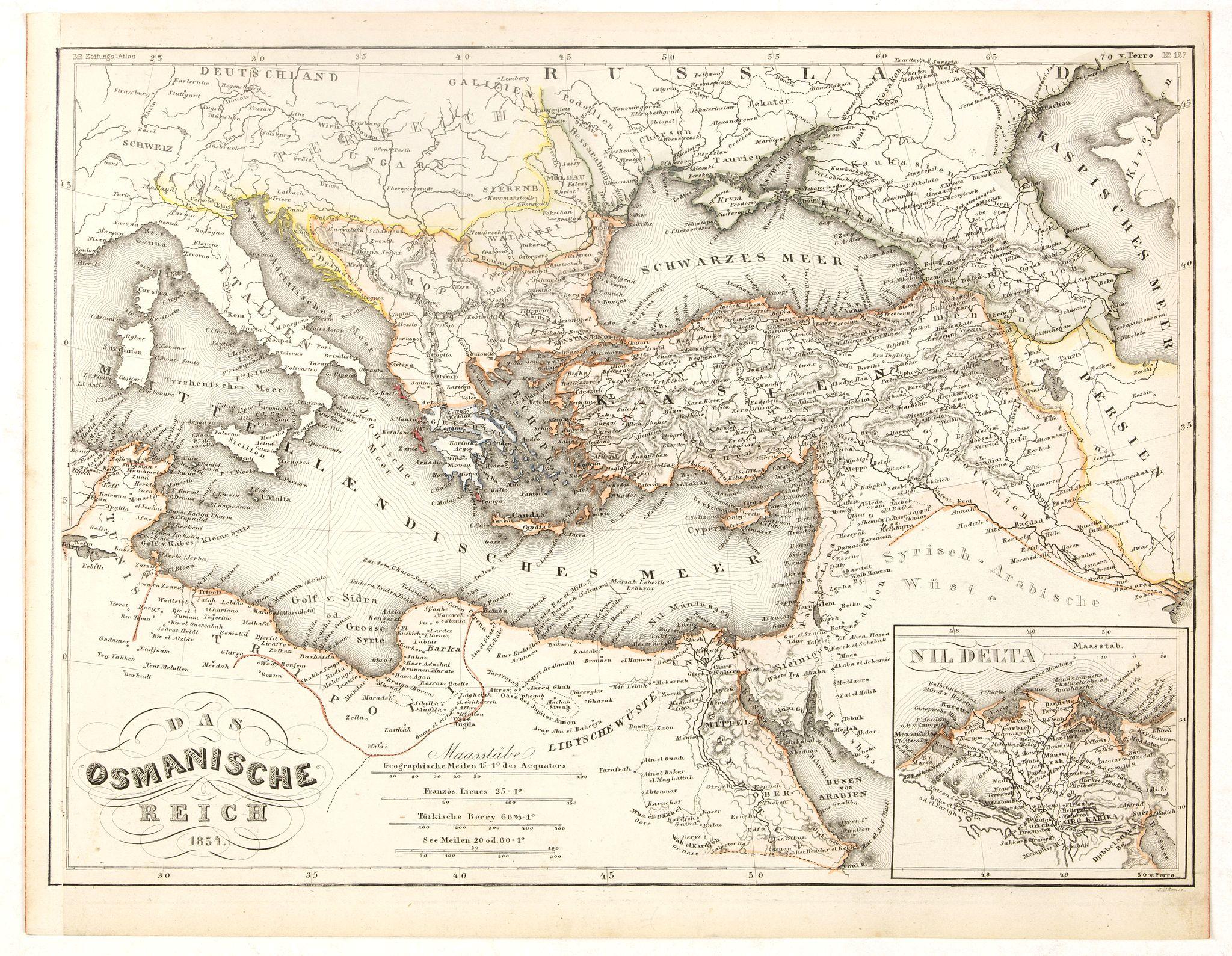 MEYER, J. -  Das Osmanische Reich 1854.