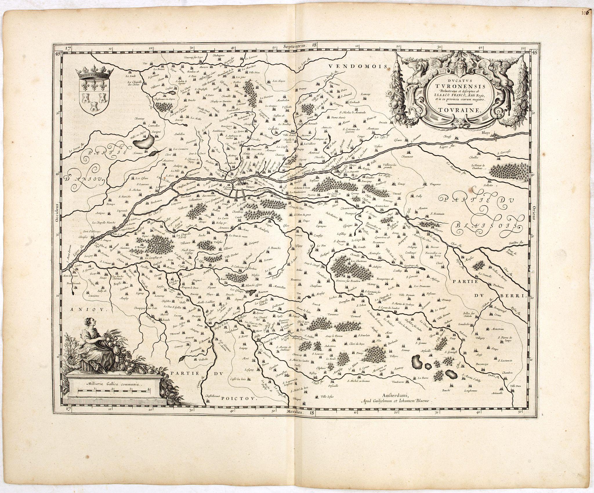 BLAEU, W. -  Ducatus Turonensis perlustratus et descriptus ab Isaaco Franco. . .