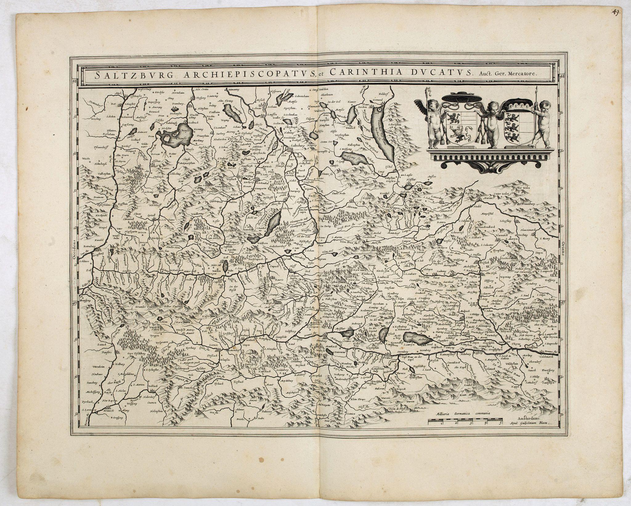 BLAEU, W. -  Saltzburg Archiepiscopatus, et Carinthia Ducatus