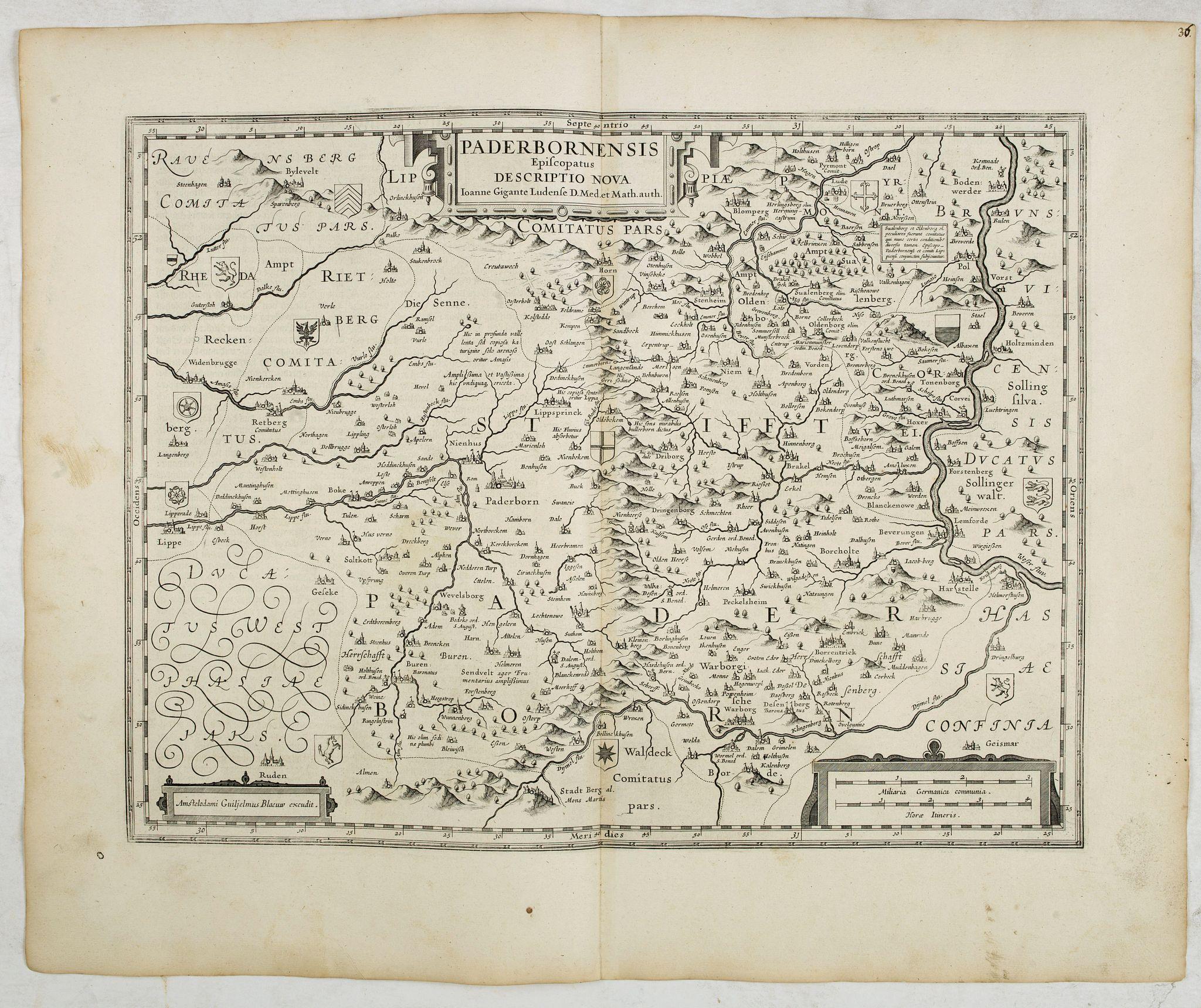 BLAEU, W. -  Paderbornensis Episcopatus Descriptio Nova.