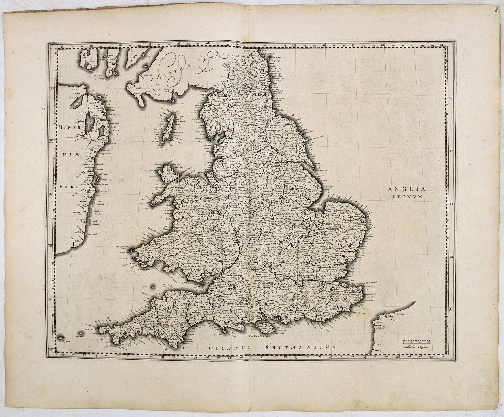 BLAEU, W. -  Anglia Regnum.