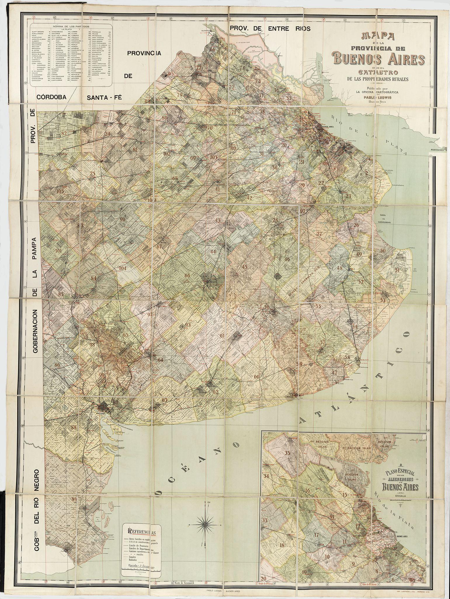Ludwig mapa de la provincia de buenos aires con el for Catastro avila oficina virtual