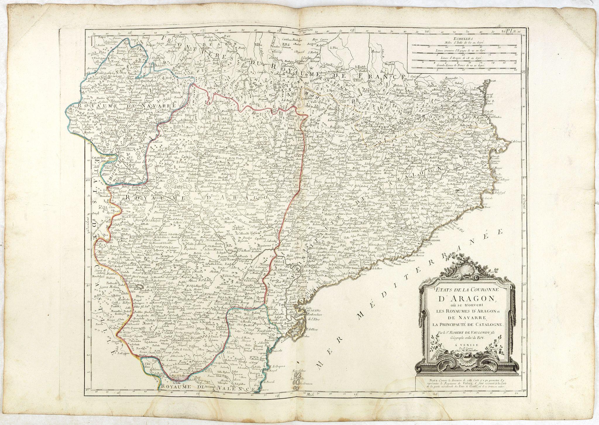 SANTINI, P. / REMONDINI, M. -  Etats de la Couronne d'Aragon…