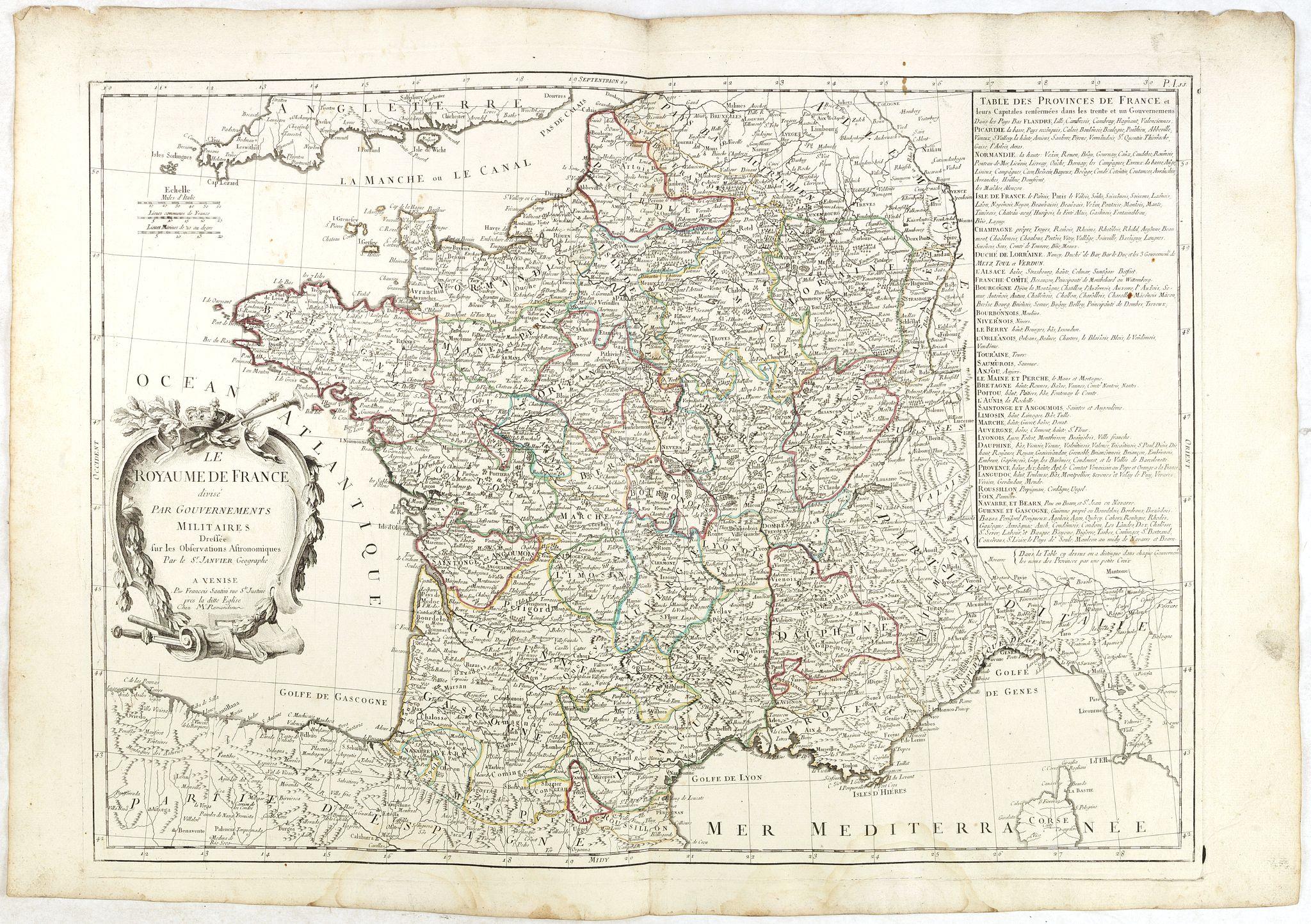 SANTINI, P. / REMONDINI, M. -  Le Royaume de France. . .