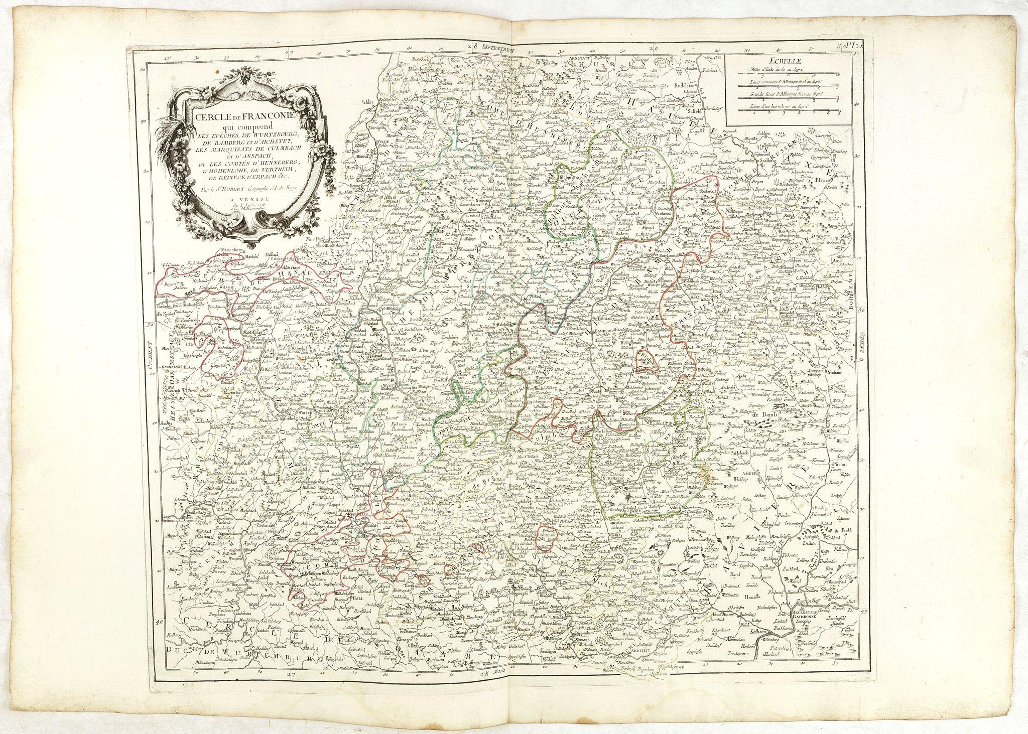 SANTINI, P. / REMONDINI, M. -  Cercle de Franconie.. Reineck d' Erpach.