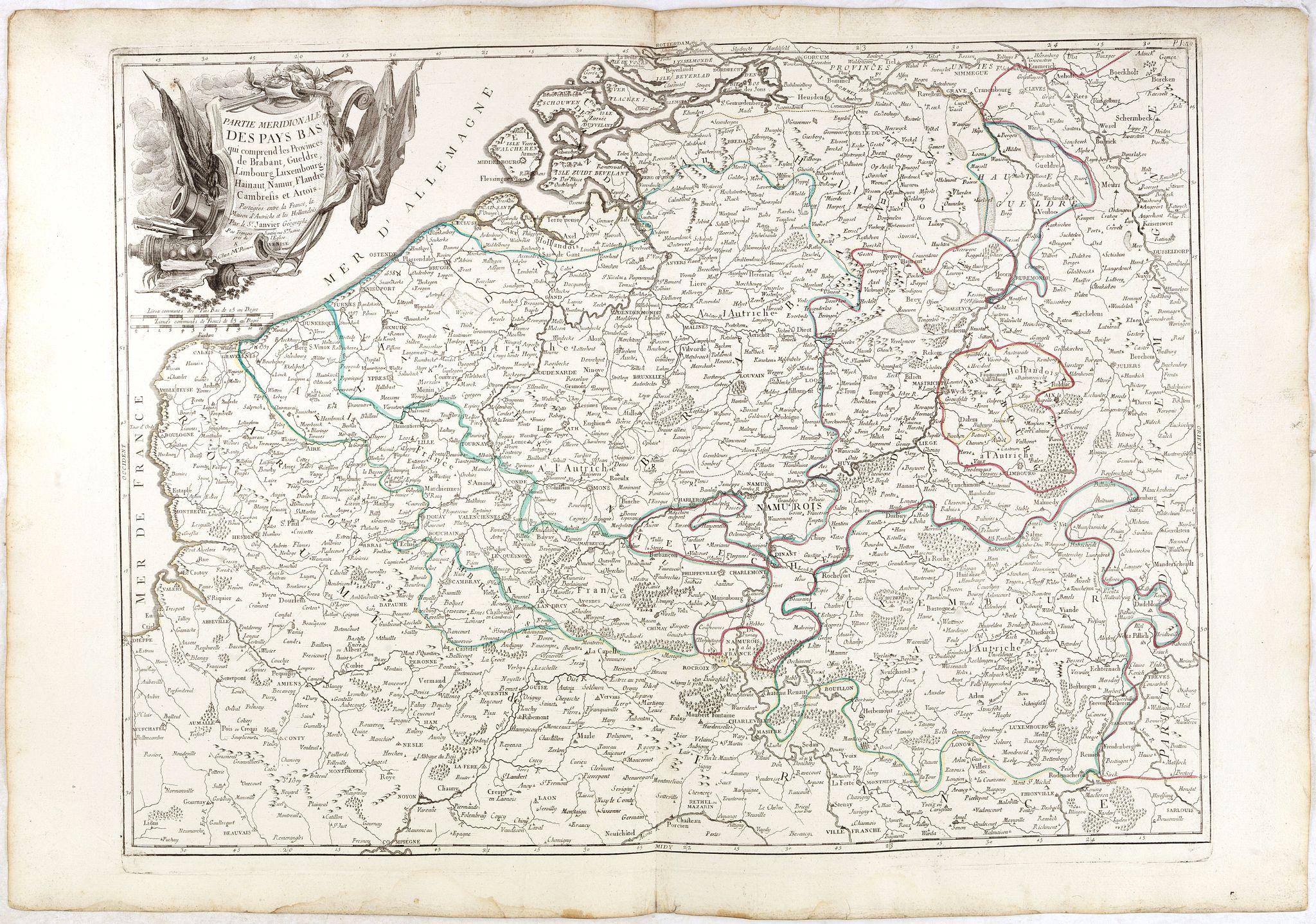 SANTINI, P. / REMONDINI, M. -  Partie meridionale des Pays Bas.. Cambrefis et  Artois.