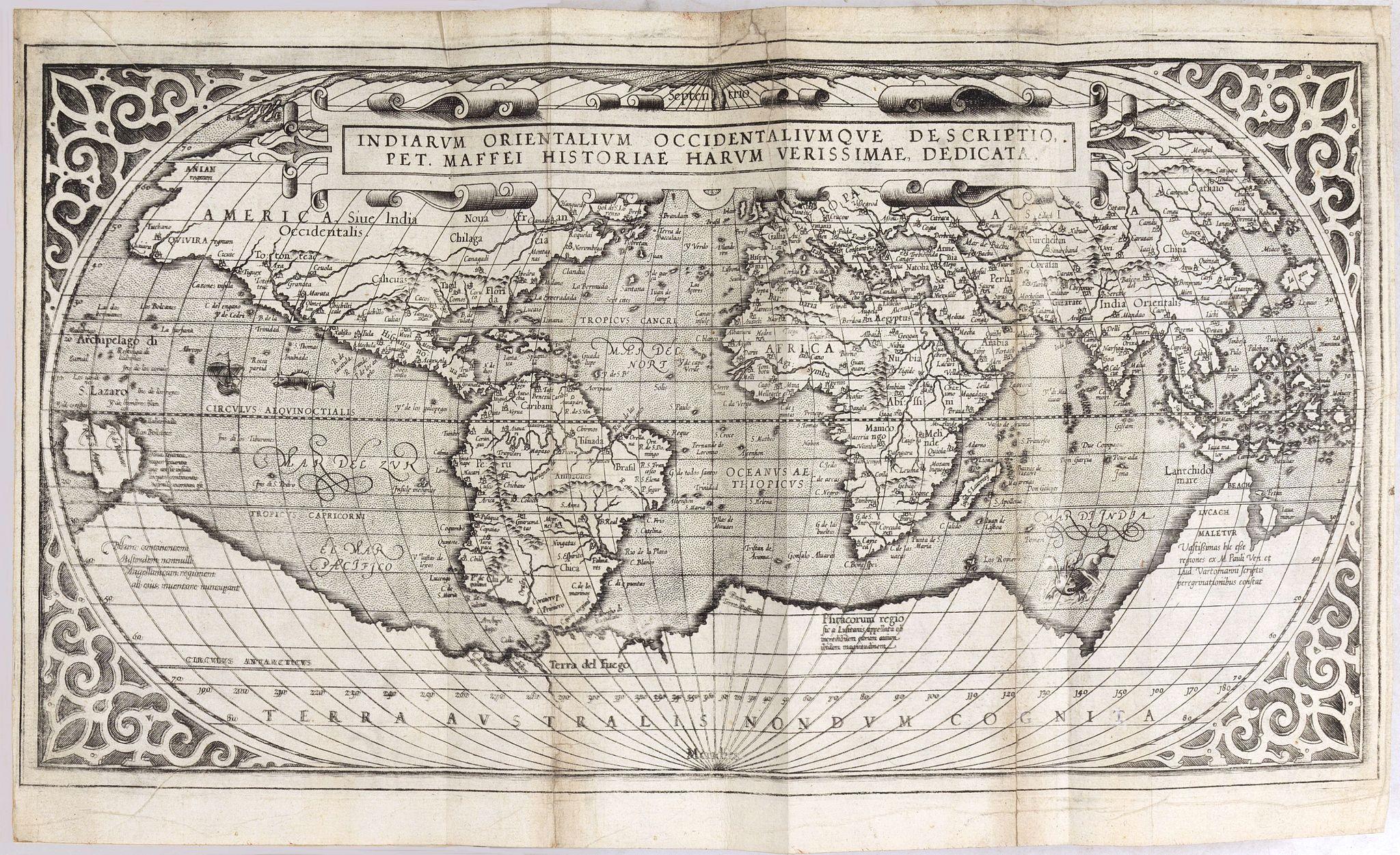 MAFFEI, G. -  Indiarum Orientalum Occidentaliumoue Descriptio.