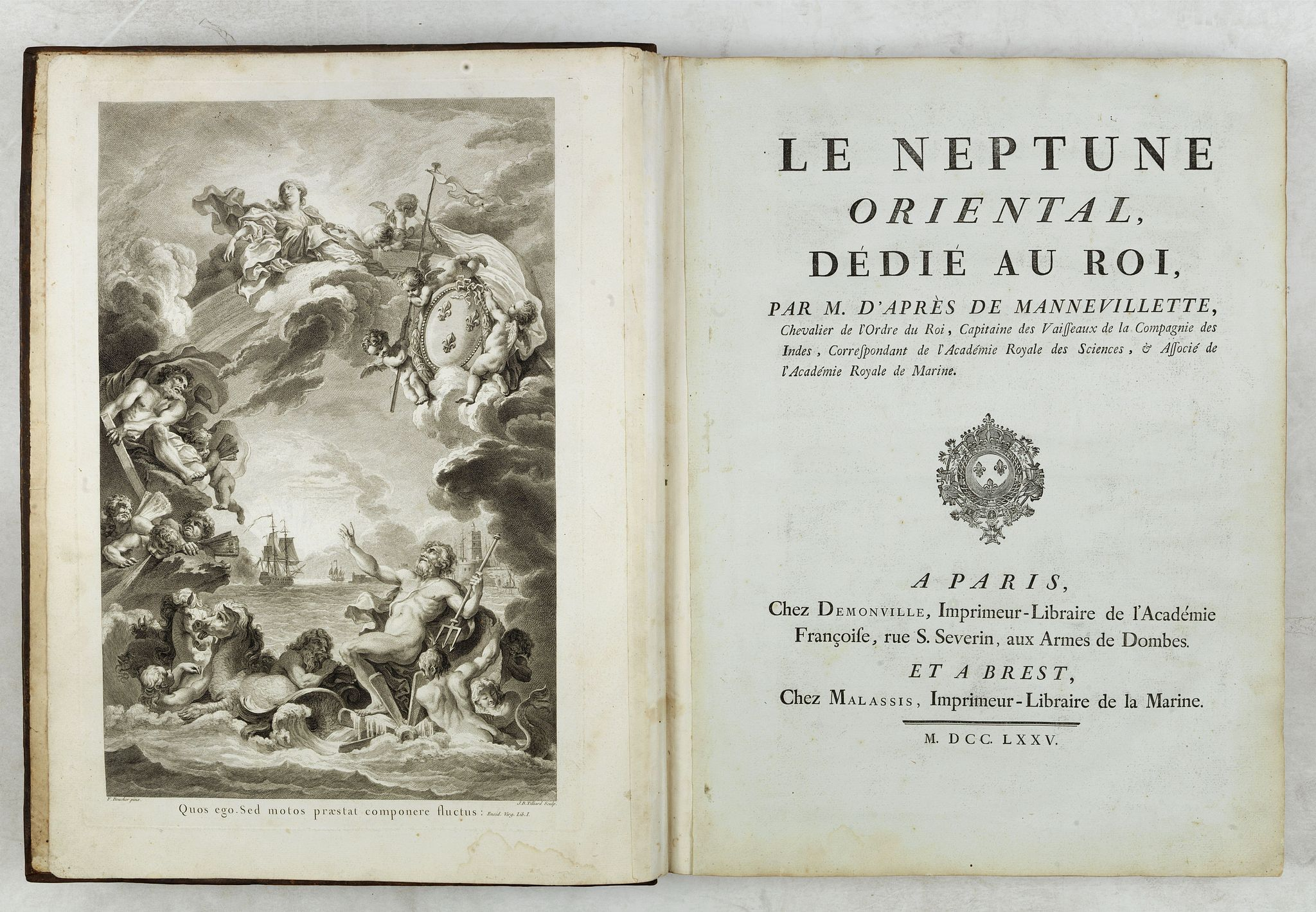 D'APRES DE MANNEVILLETTE. -  Le Neptune Oriental ou routier general des Cotes des Indes orientales et de la Chine. . .