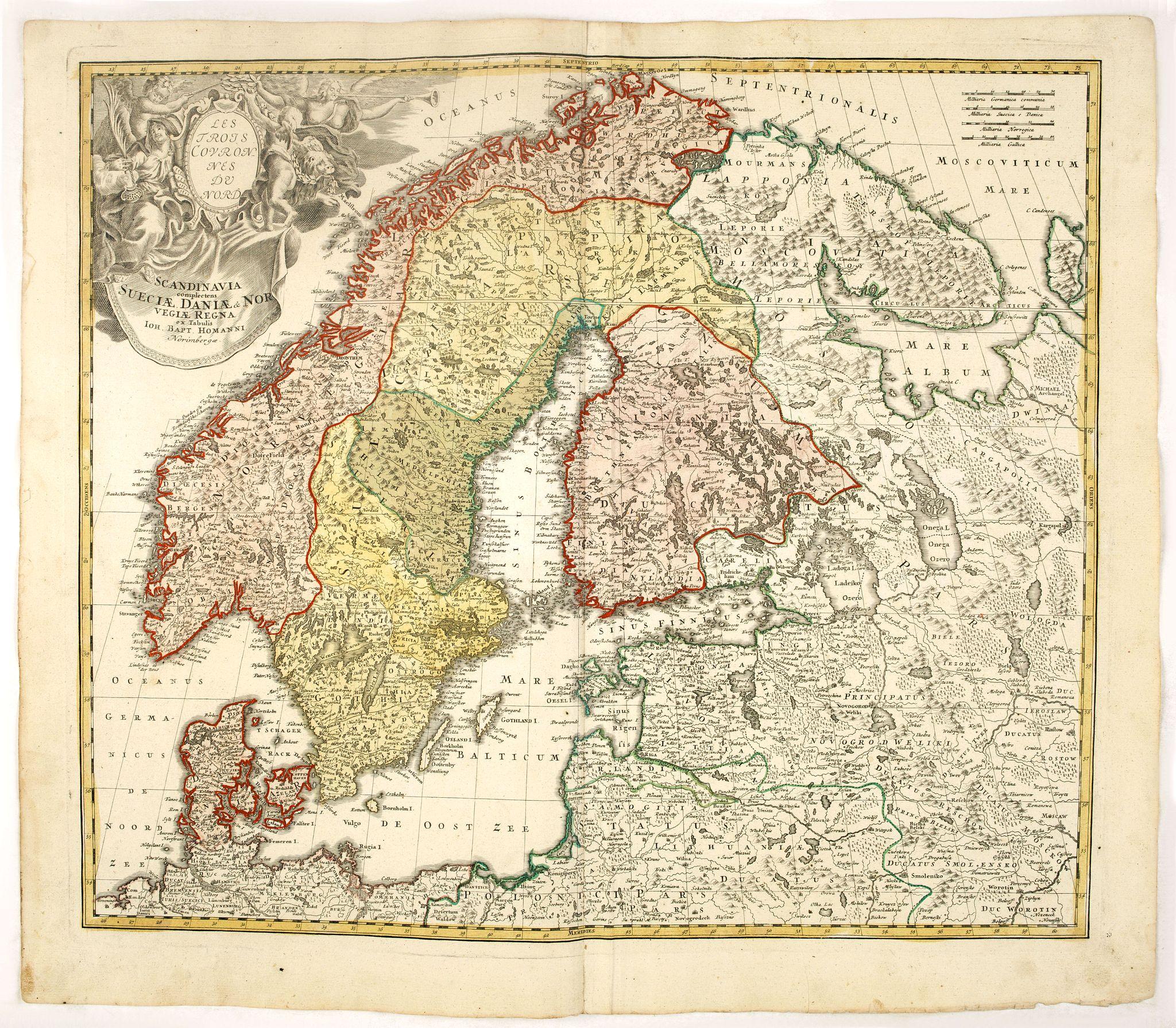 HOMANN HEIRS. -  Scandinavia complectens Sueciae, Daniae & Norvegia. . .