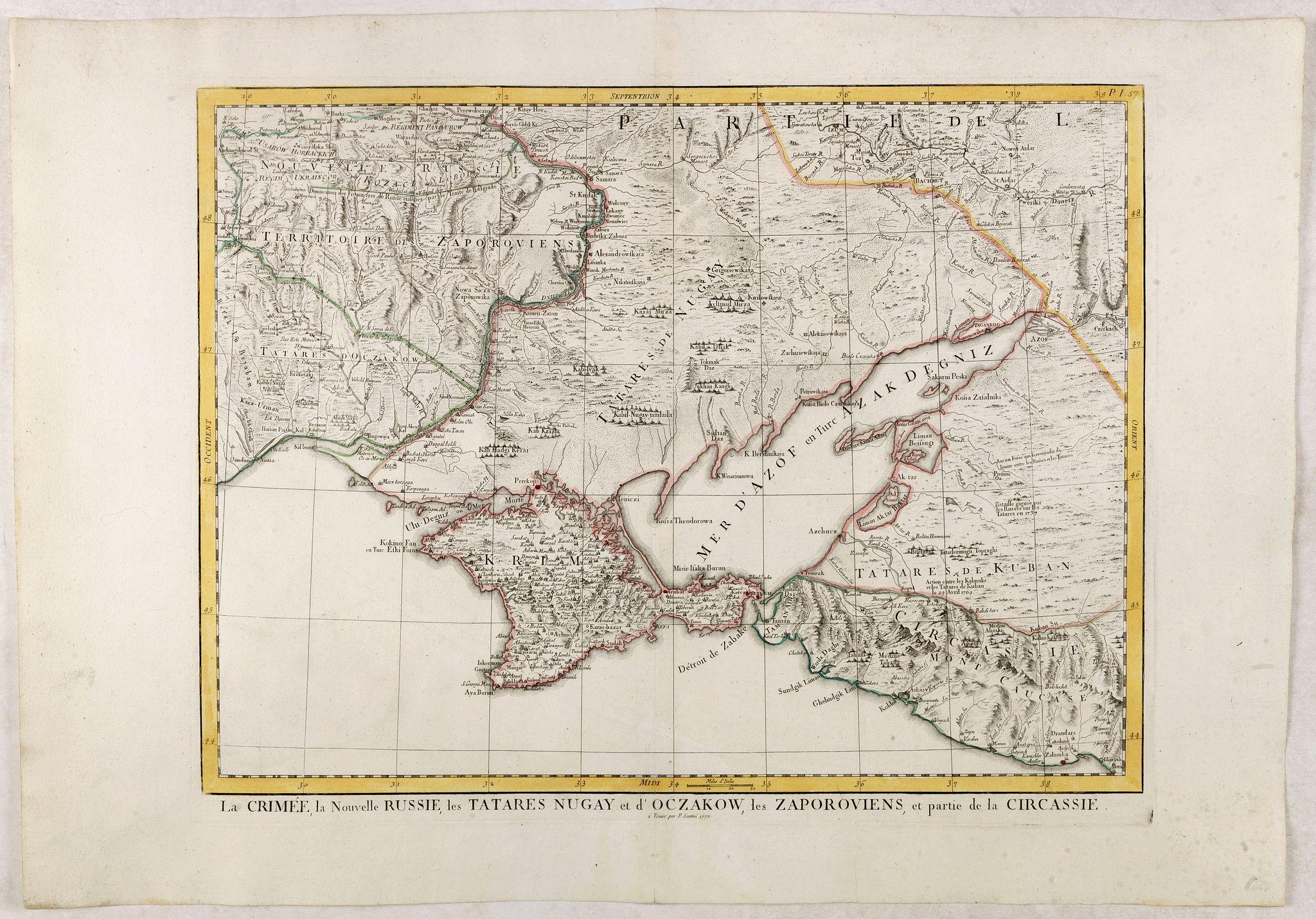SANTINI, P. / REMONDINI, M. -  La Crimée, la nouvelle Russie, les Tatares Nugay et d'Oczakow…