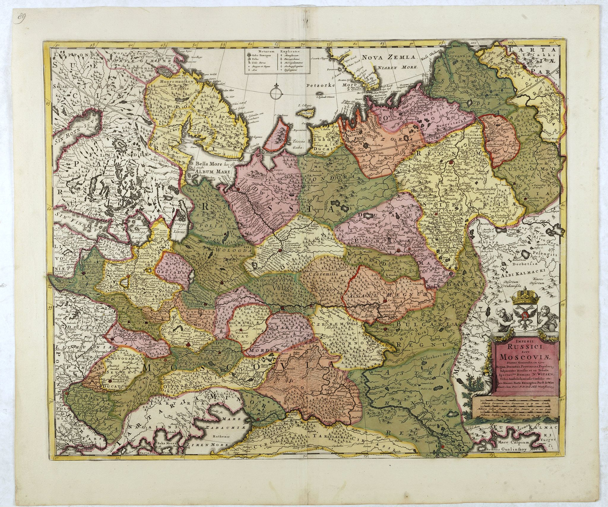 DE WIT, F. -  Imperii Russici sive Moscoviae . . .