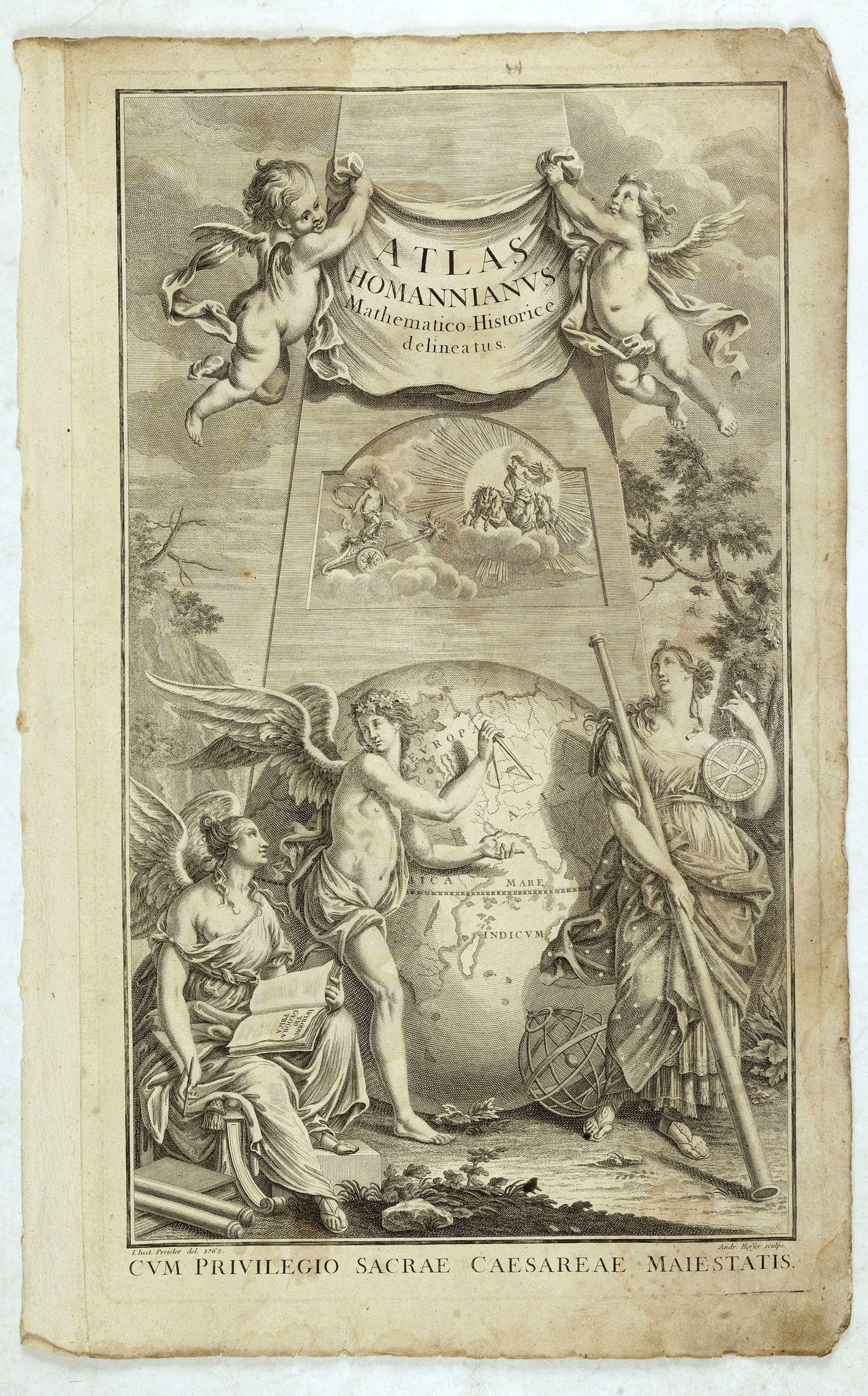 HOMANN, J.B. -  [Titlepage]  Atlas Homannianus Mathematico Historice delineatus.
