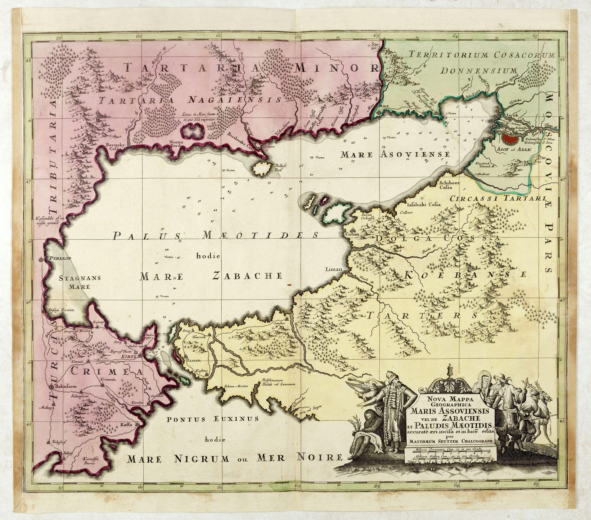 SEUTTER, M. -  Nova Mappa Geographica Maris Assoviensis Vel De Zabache Et Paludis Maeotidis accurate aeri incis et in luce edita . . .