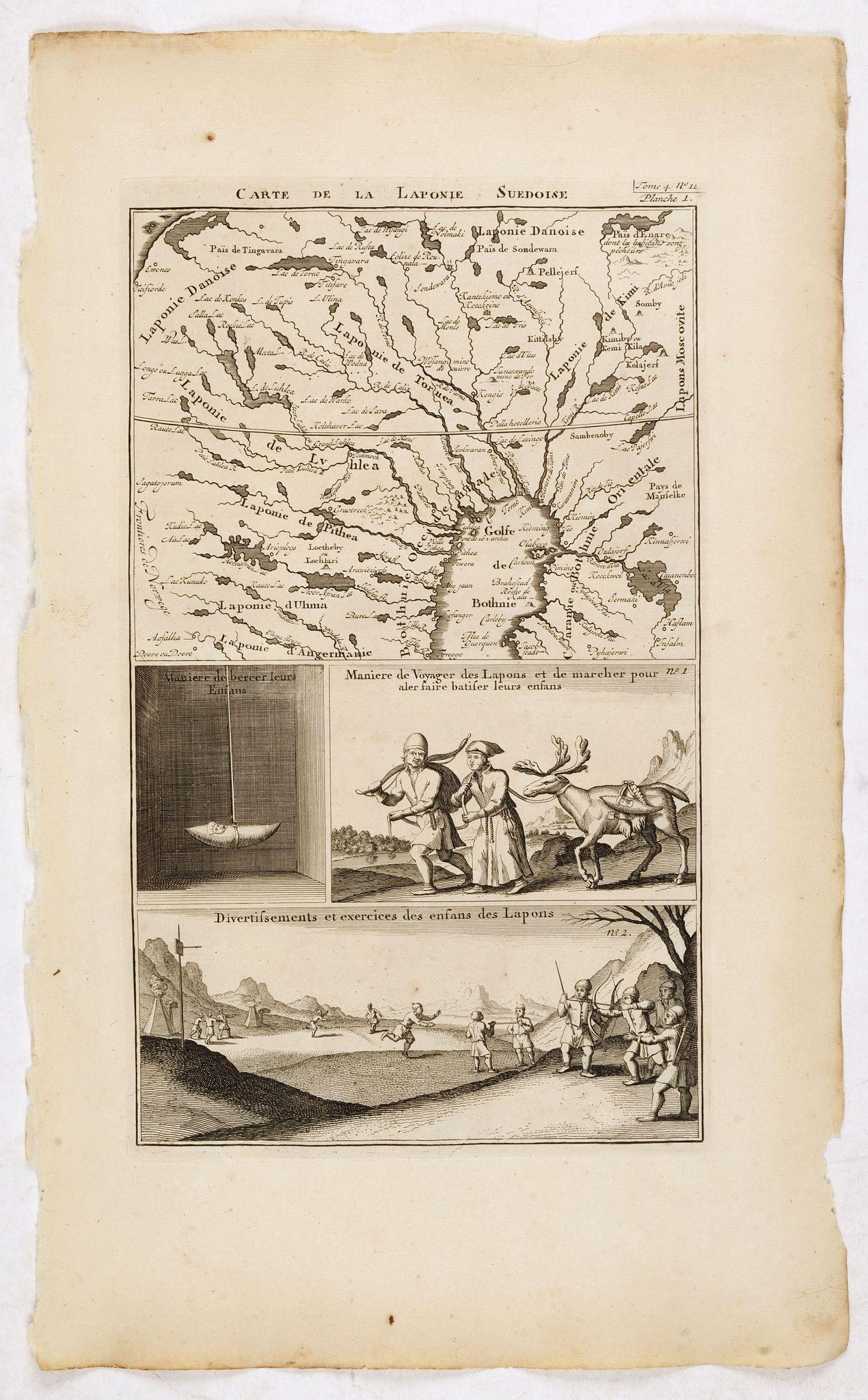 CHATELAIN, H. -  Carte de la Laponie Suedoise [together with 5 plates]