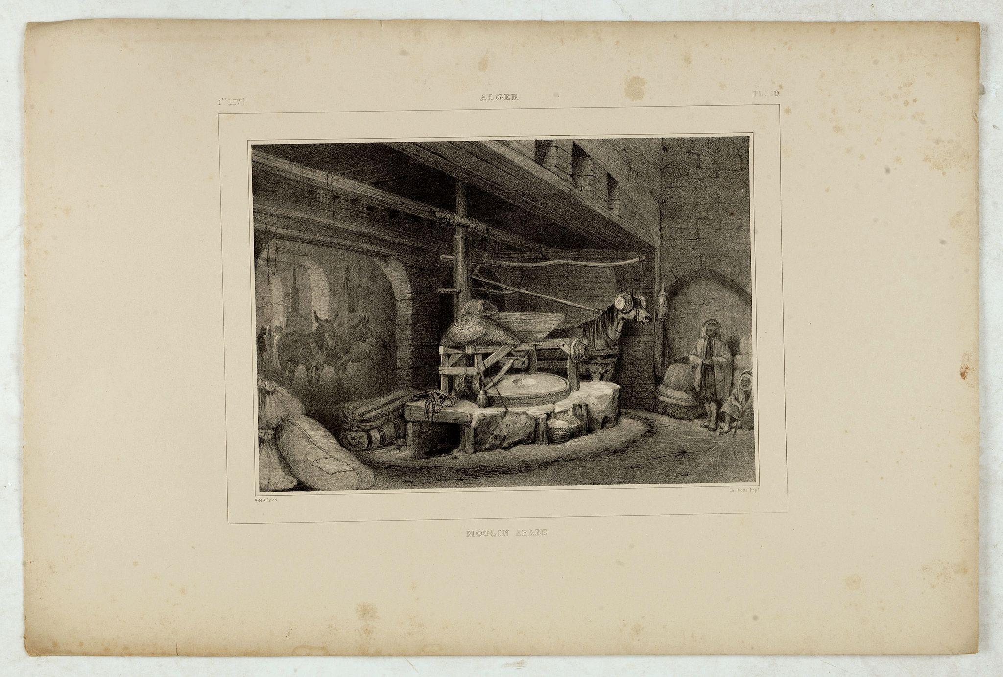 WYLD William / LESSORE Emile -  Alger, moulin arabe.