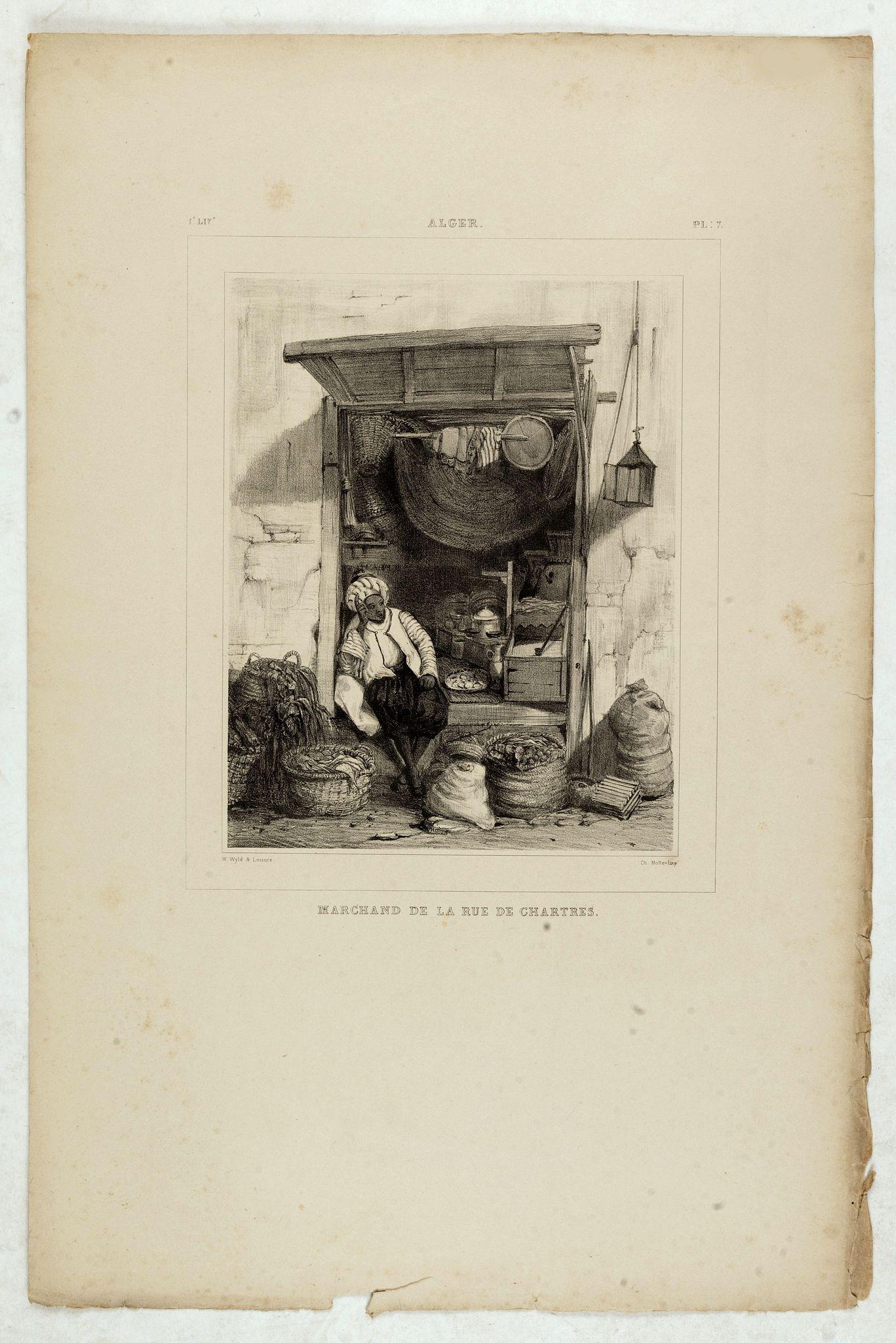 WYLD William / LESSORE Emile -  Alger, Marchand de la rue de Chartres.