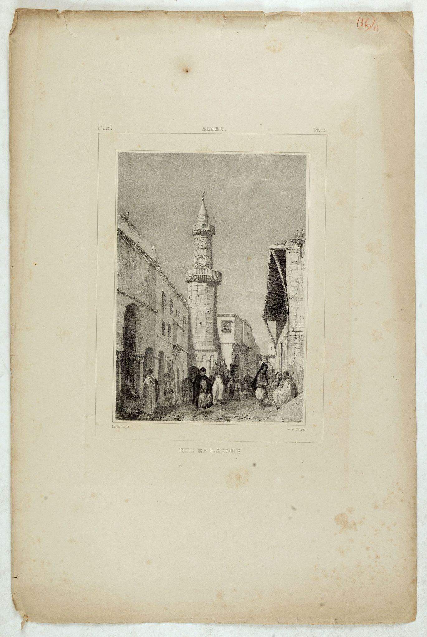 WYLD William / LESSORE Emile -  Alger, rue Bab-Azoun.