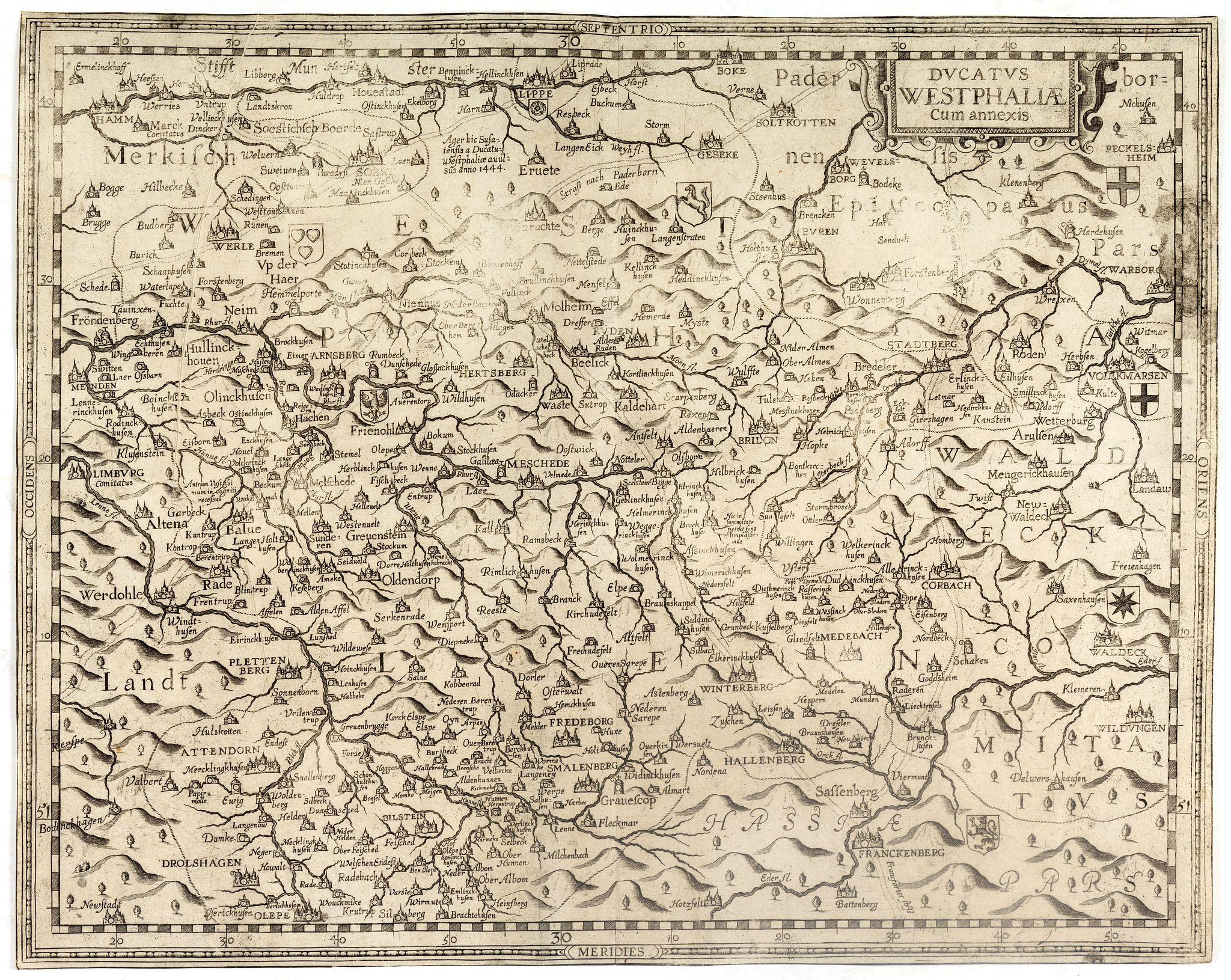 GIGAS, J. K. -  Ducatus Westphaliae Cum annexis.