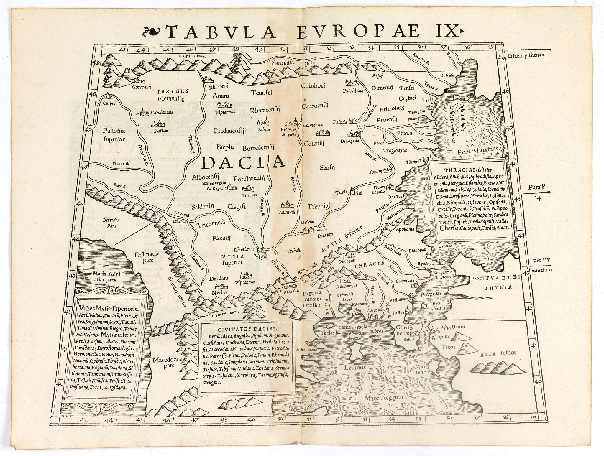 MÜNSTER, S. -  Tabula Europae IX ( Greece & Turkey).